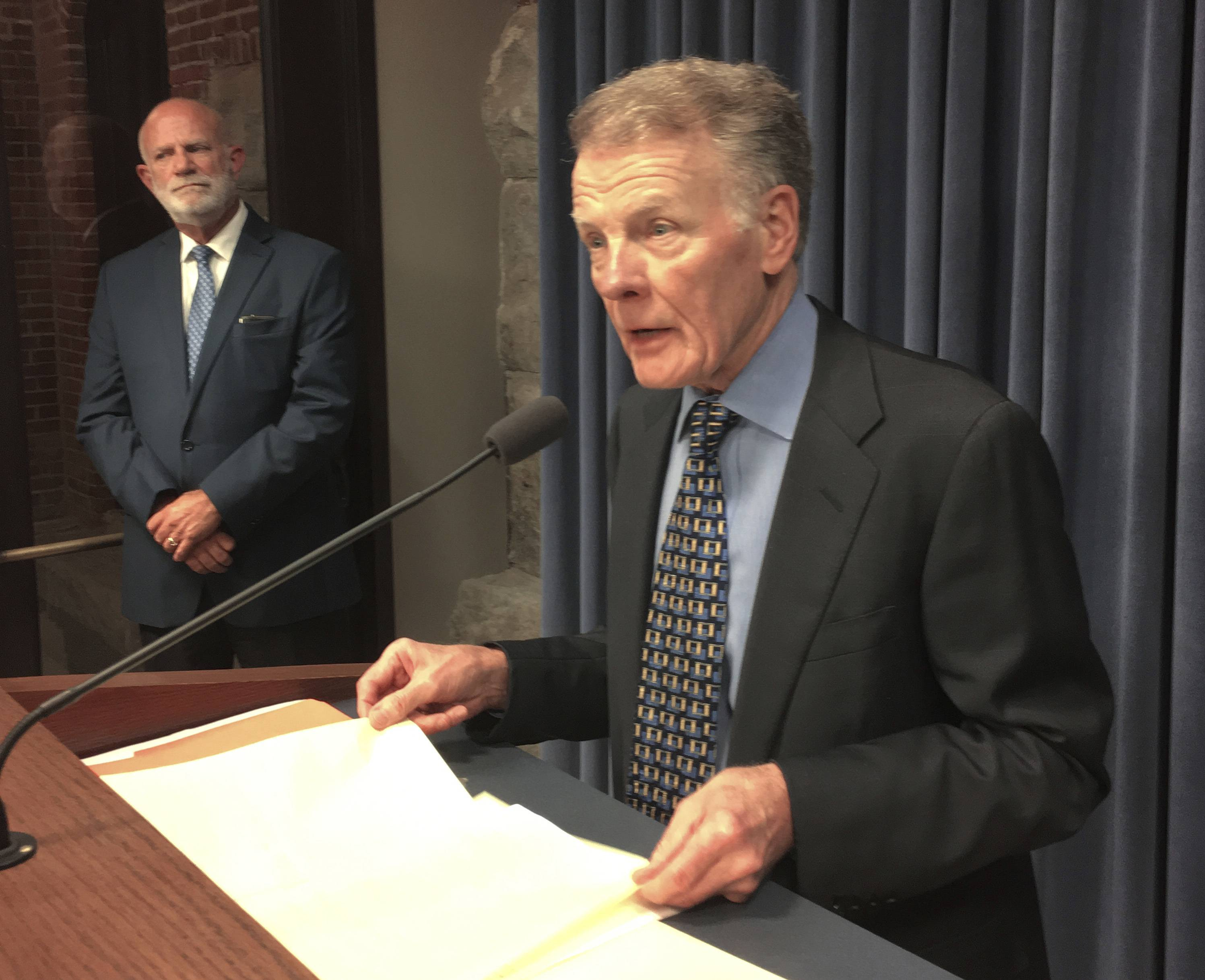 Illinois House Speaker Michael Madigan said he canceled a vote Wednesday to override Gov. Bruce Rauner's veto on school funding.