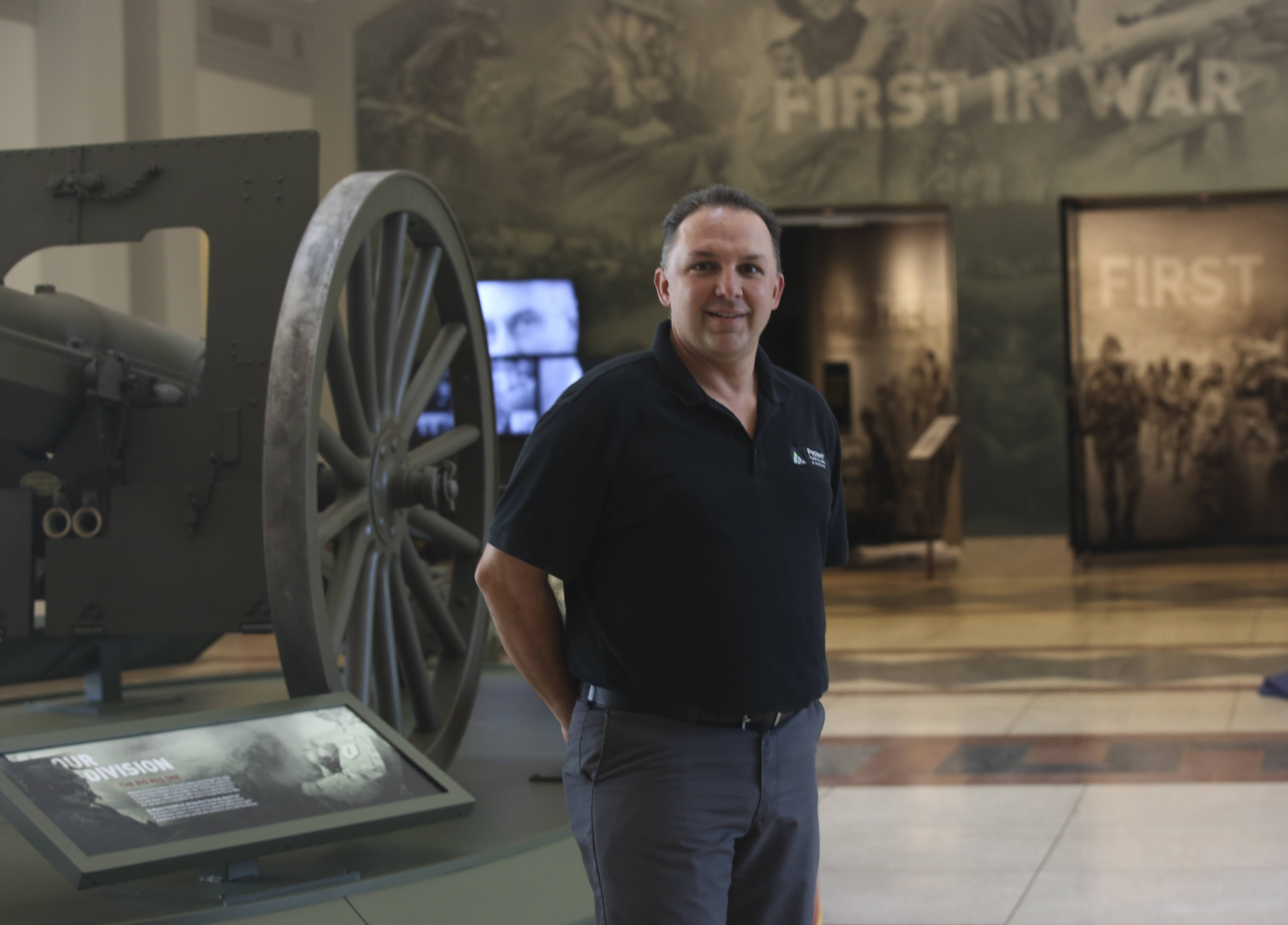 John Zurek of Pepper Construction served as project manager for the renovation of the First Division Museum at Cantigny Park.