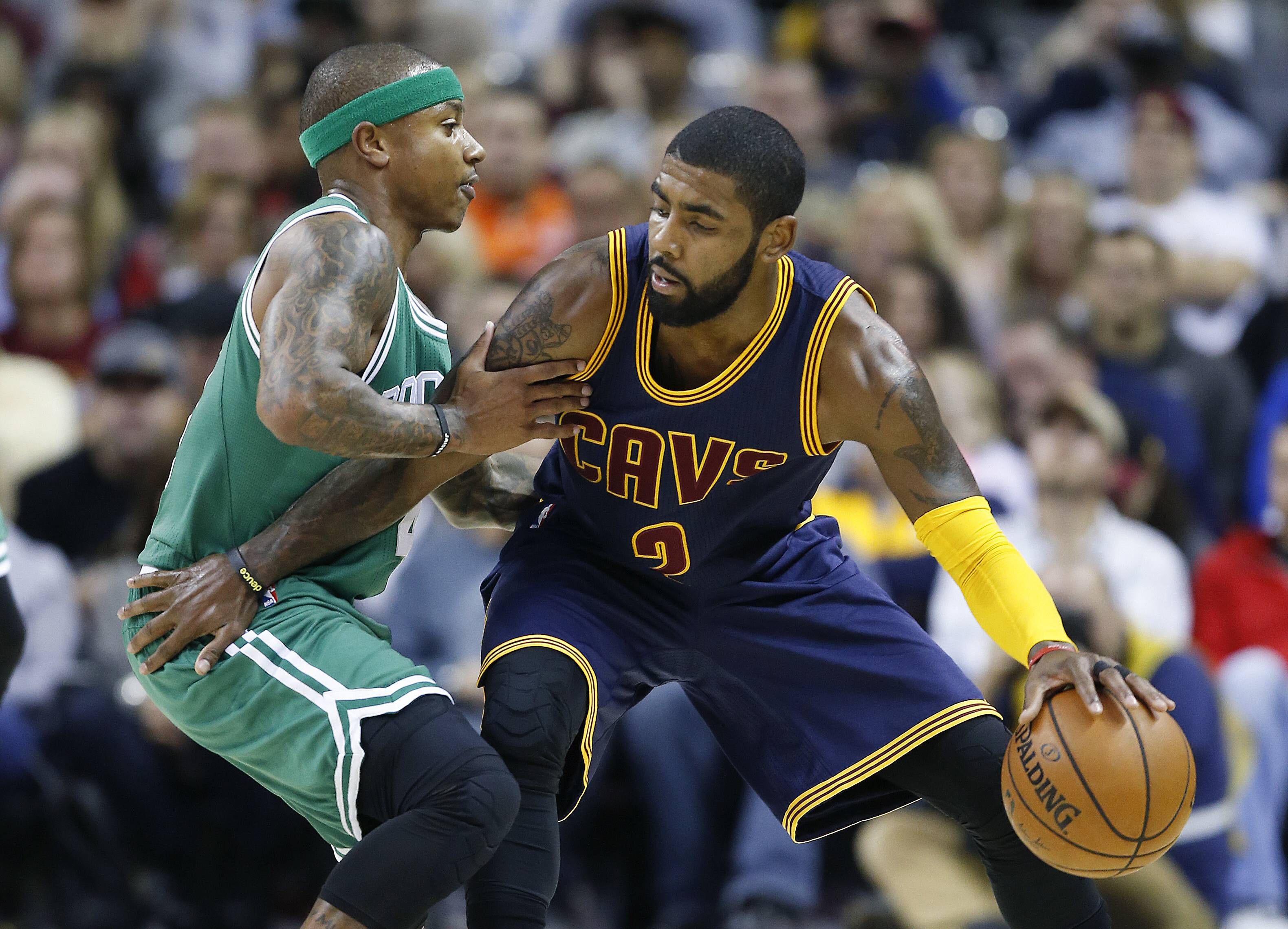 Kyrie Irving's next cross-over will come against the Cavaliers. Cleveland's All-Star guard, who asked owner Dan Gilbert to trade him earlier this summer, was dealt Tuesday night to the Boston Celtics in exchange for star Isaiah Thomas, forward Jae Crowder and a 2018 first-round draft pick, a person familiar with the deal told The Associated Press.