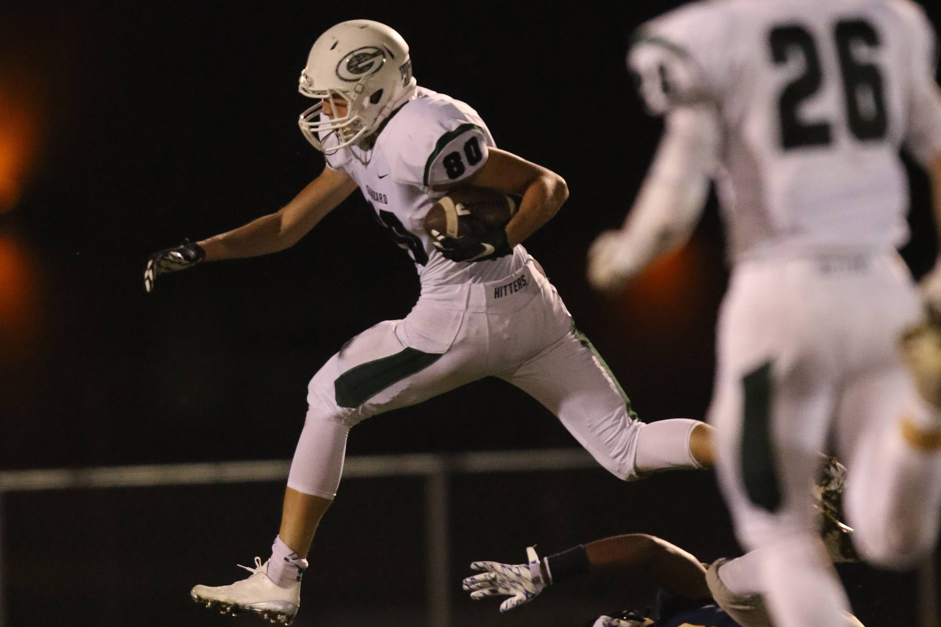 Glenbard West wide receiver Alec Pierce (80) will be back in a high-powered Hilltoppers offense.