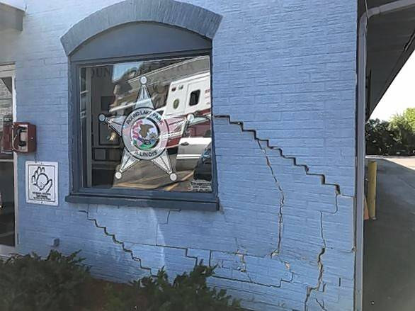 The Round Lake Park police station sustained significant structural damage Wednesday morning when an SUV crashed into the side of the building. The vehicle's driver, an 81-year-old woman, suffered minor injuries. She was not charged.