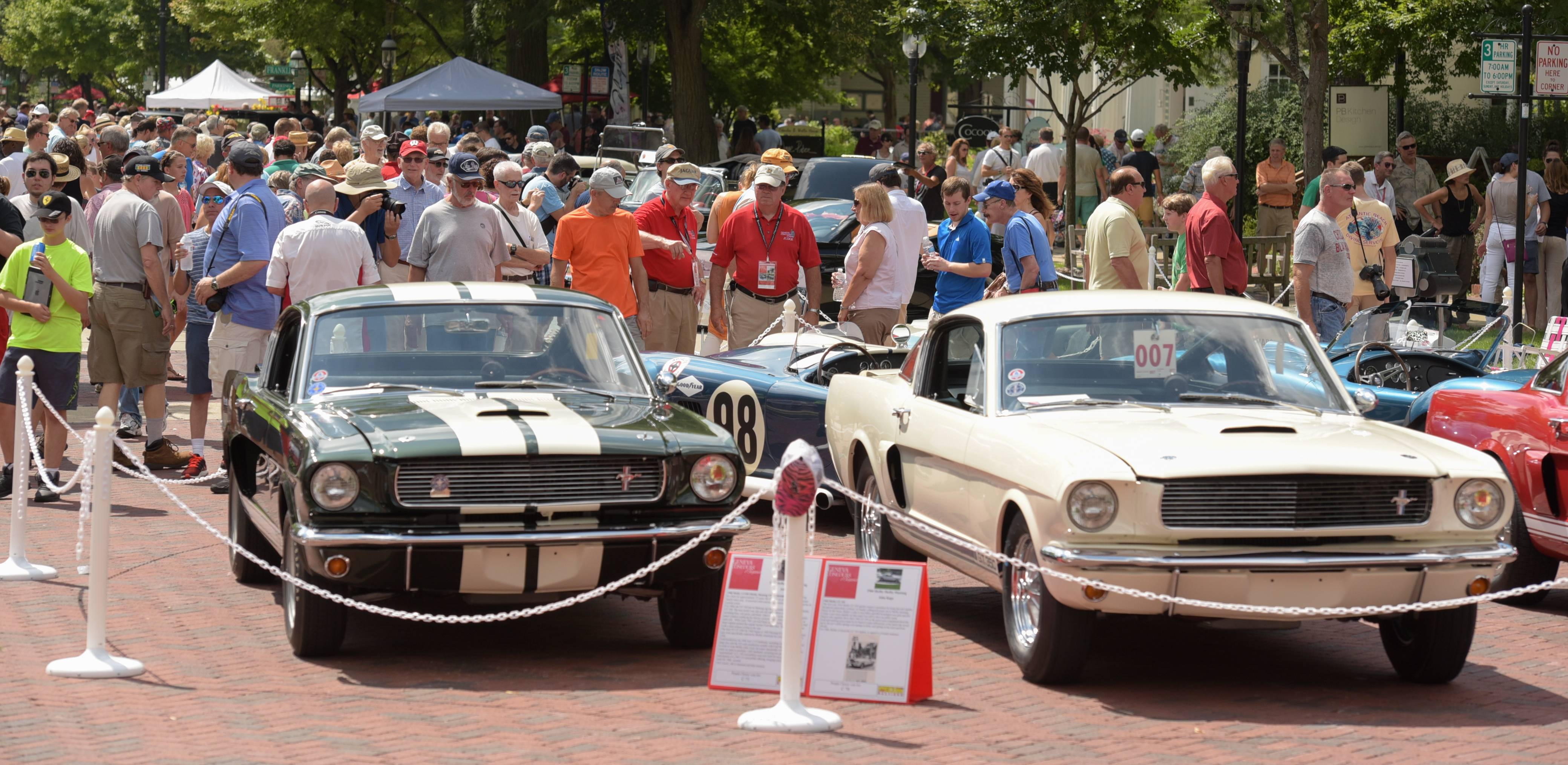 Classic car enthusiasts of all types filled Third Street at last year's Concours d'Elegance car show in downtown Geneva.