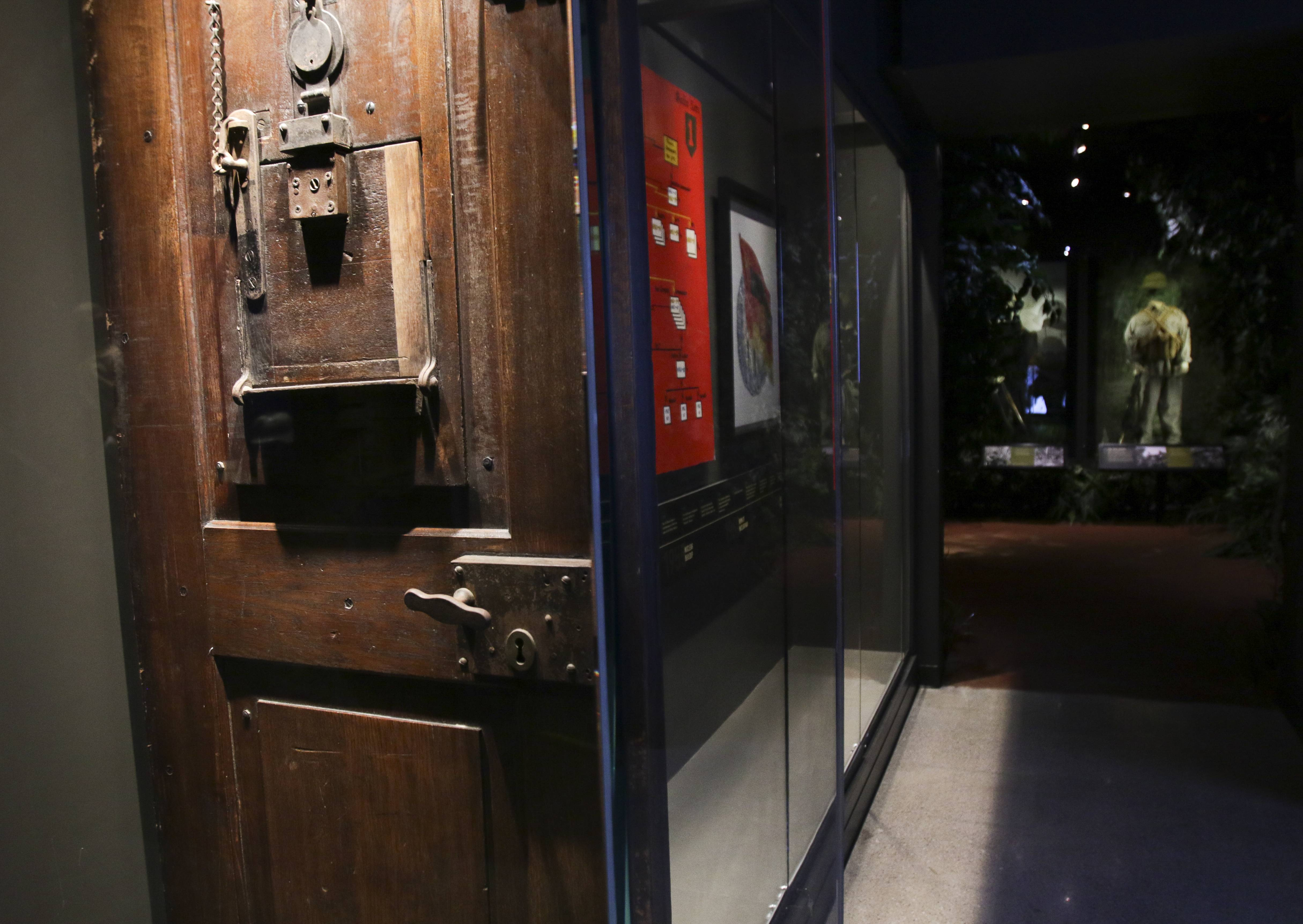 Among the museum's existing artifacts is one of the cell doors from the Nuremberg Prison that held Nazi criminals. Soldiers from the Army's 1st Infantry Division stood guard outside the cells.