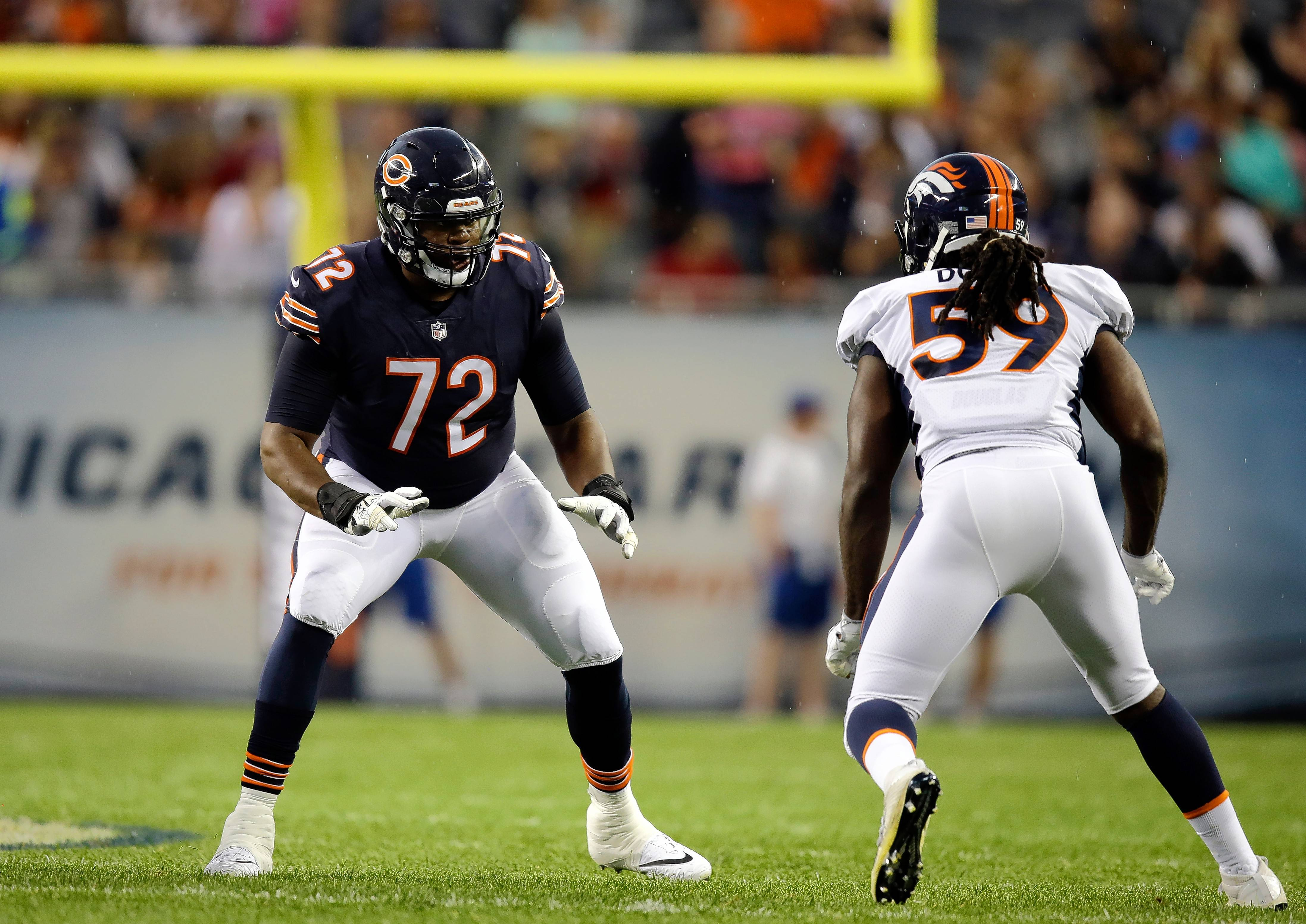 Bears left tackle Charles Leno has started 29 straight games, beginning in early 2015, the year after he was drafted in the seventh round out of Boise State.