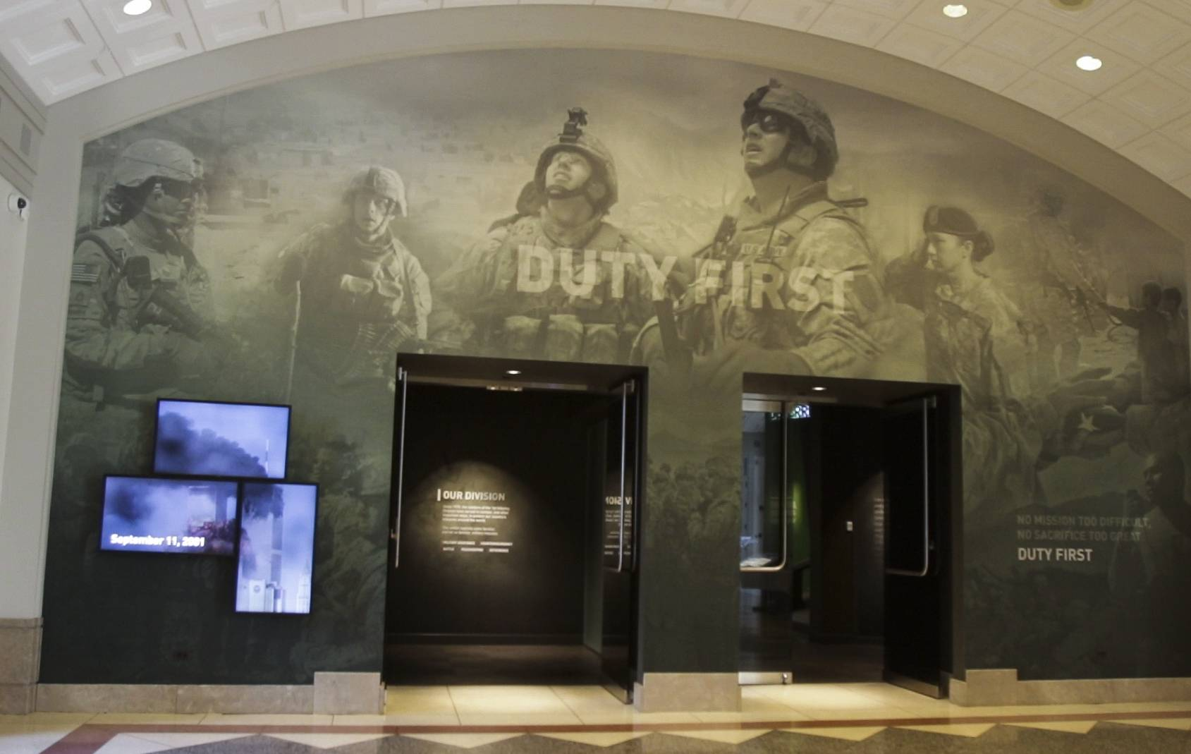 "The First Division Museum at Cantigny Park in Wheaton will reopen Saturday after a roughly $8.5 million project to renovate exhibits and repair infrastructure. A new gallery, called ""Duty First,"" highlights the contemporary missions of the Army's 1st Infantry Division. At the entrance is a media timeline with video from Sept. 11, 2001."