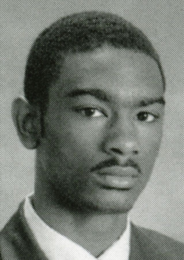 Jeffrey Williams as a senior poses for the 2002-2003 Wheaton Warrenville South High School yearbook.