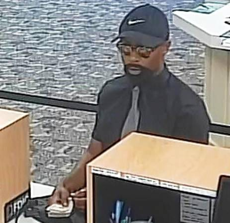 The FBI is hunting for this man in connection with a Thursday afternoon robbery at a Downers Grove bank.