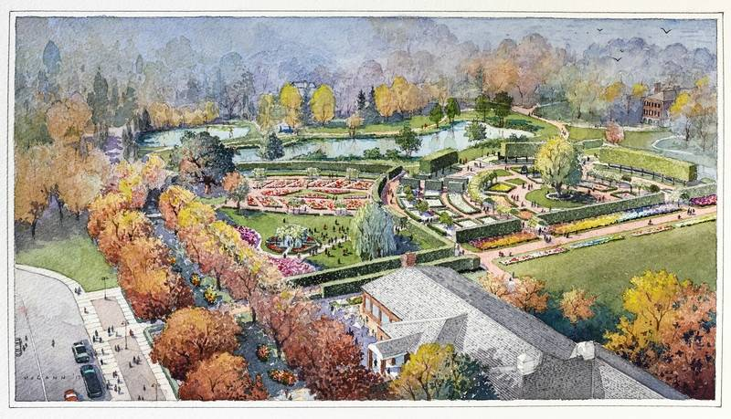 What 39 s next at cantigny park massive redesign of gardens for Redesign your garden