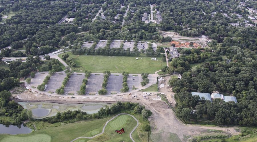 """We have opened up this vista,"" Cantigny Executive Director Matt LaFond said of ""Butterfly Hill,"" bottom right, and its views of a manicured golf course."