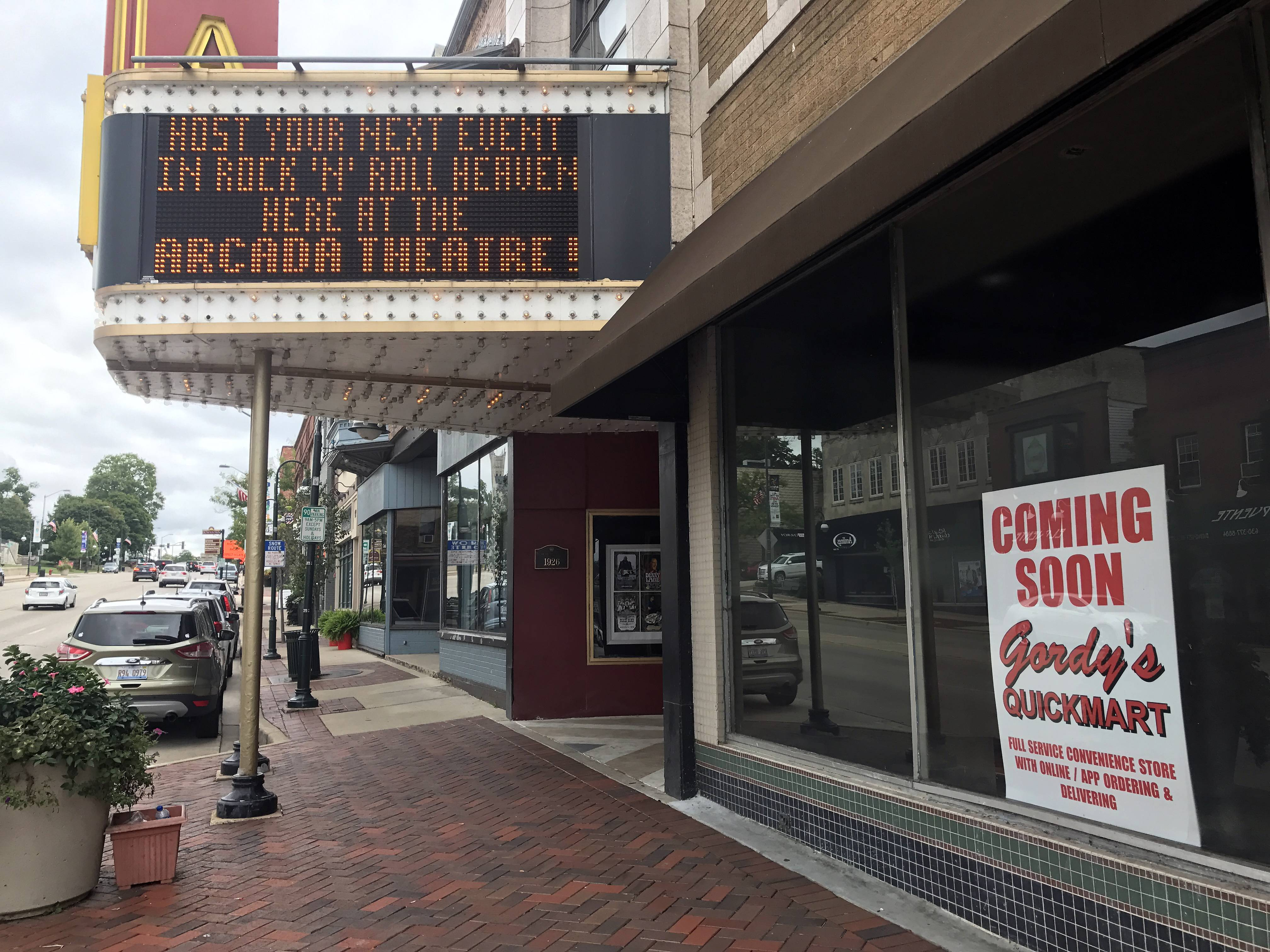 Gordy's Quick Mart is planned to open this fall next to the Arcada Theatre in downtown St. Charles.