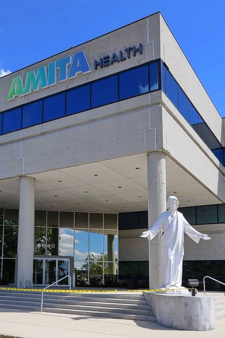 Amita Health says it plans to consolidate employees from at least six suburban offices to a new headquarters on the Navistar office campus in Lisle. The company's current headquarters is in Arlington Heights.
