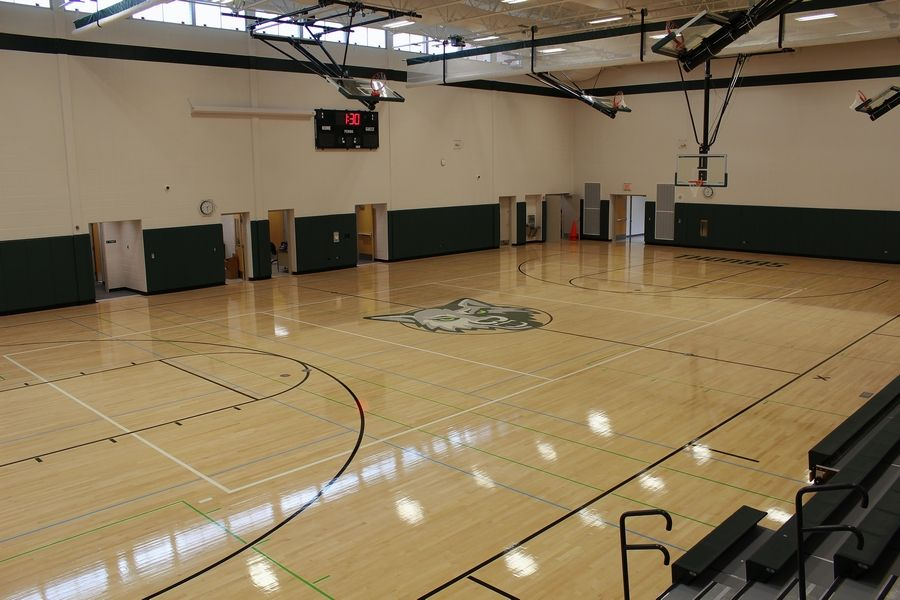 The Thomas Middle School expansion included a new gymnasium.