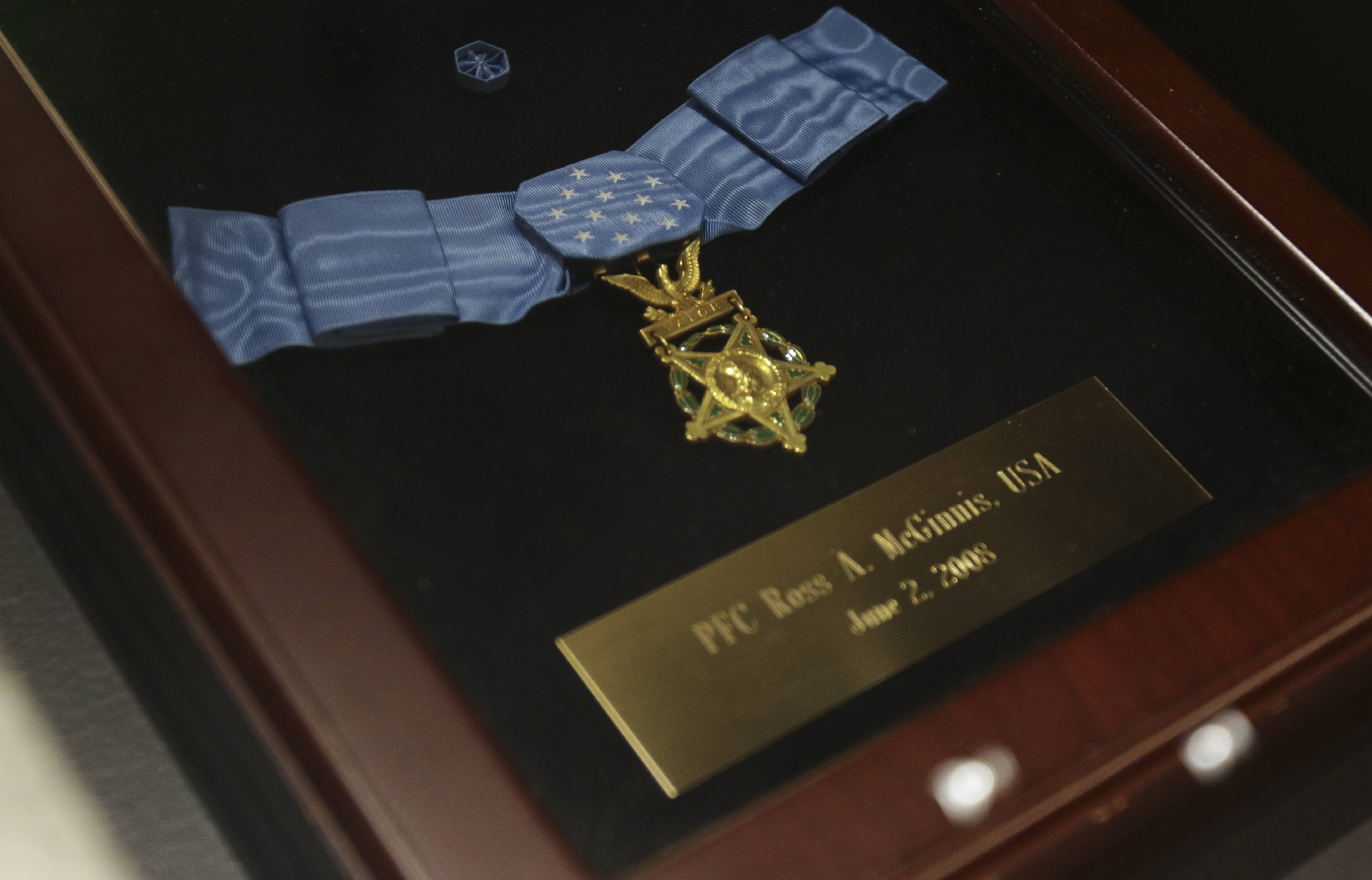 The Medal of Honor awarded posthumously to Pfc. Ross McGinnis will be on display starting Saturday at the First Division Museum in Cantigny Park.