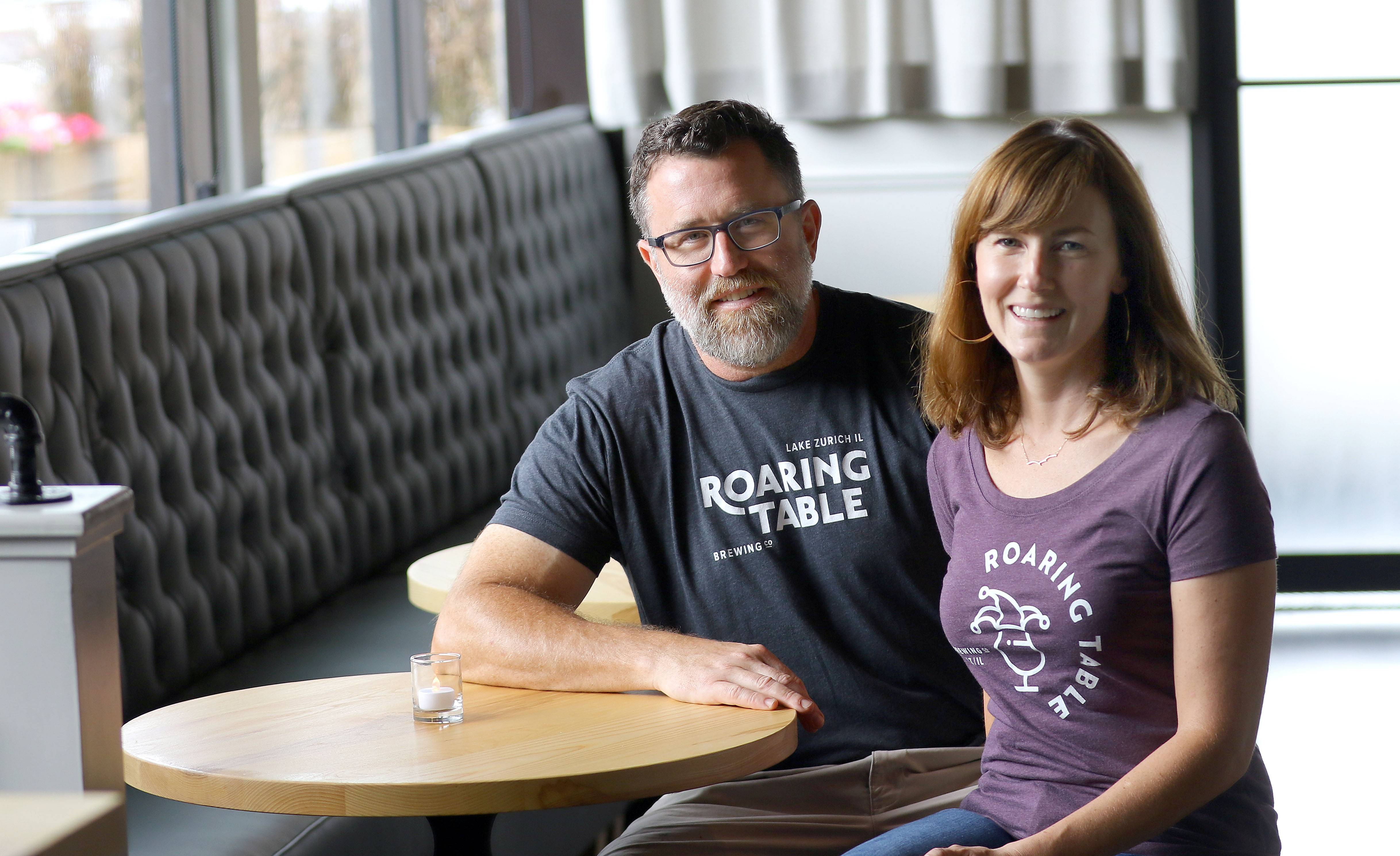 The husband-and-wife team of Lane Fearing and Beth May are the owners of Roaring Table Brewery in Lake Zurich.