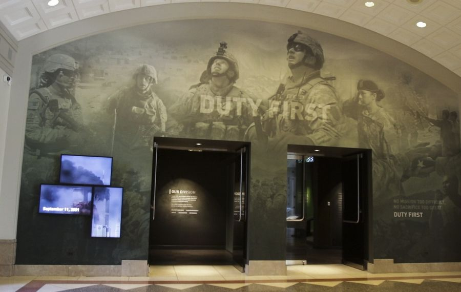 A display at the First Division Museum at Cantigny Park in Wheaton.