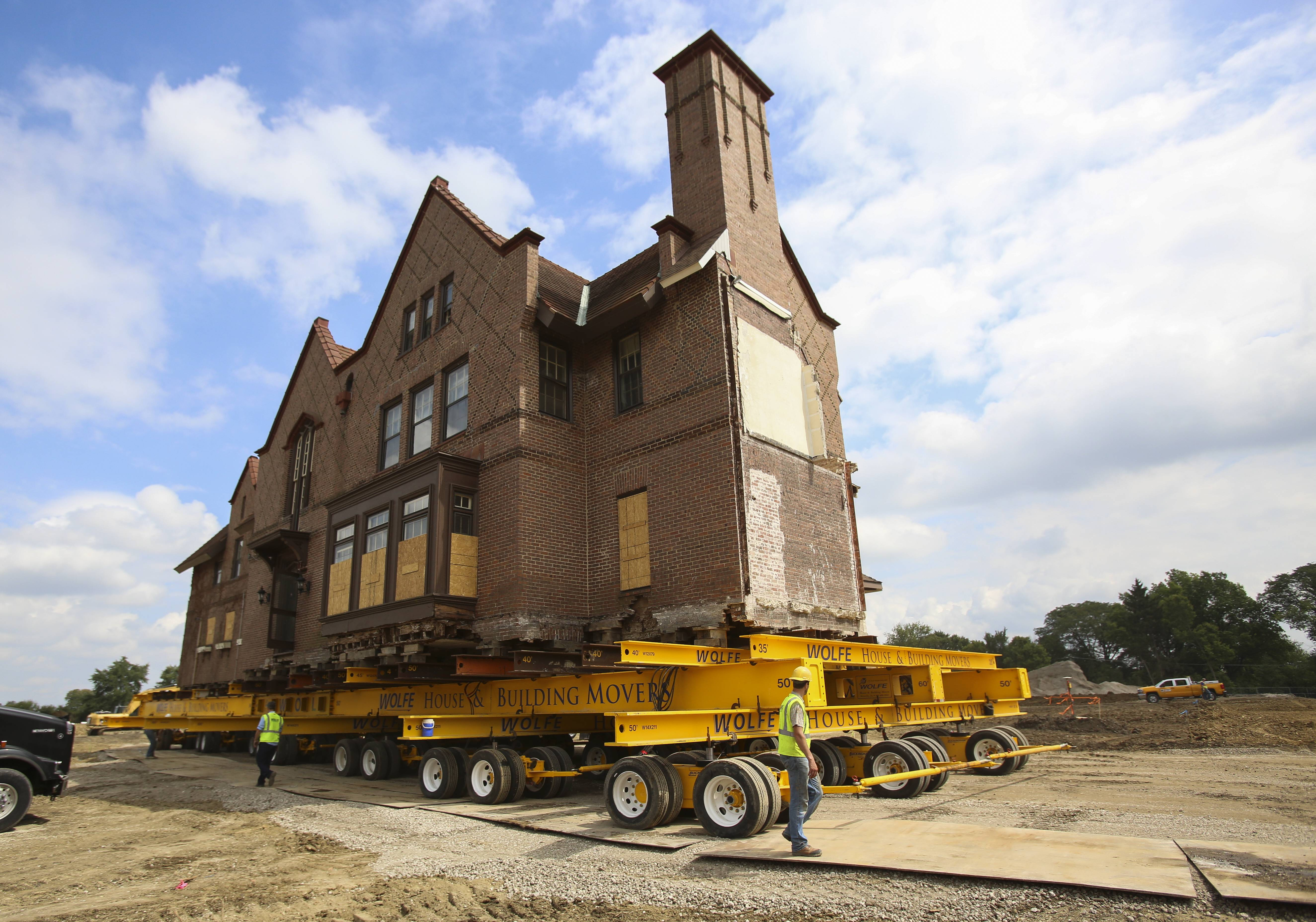 """In theory, if a house could feel, it wouldn't even really know that it's coming off its foundation,"" said Devin Hirt, a project estimator for the company moving the Wheaton mansion."