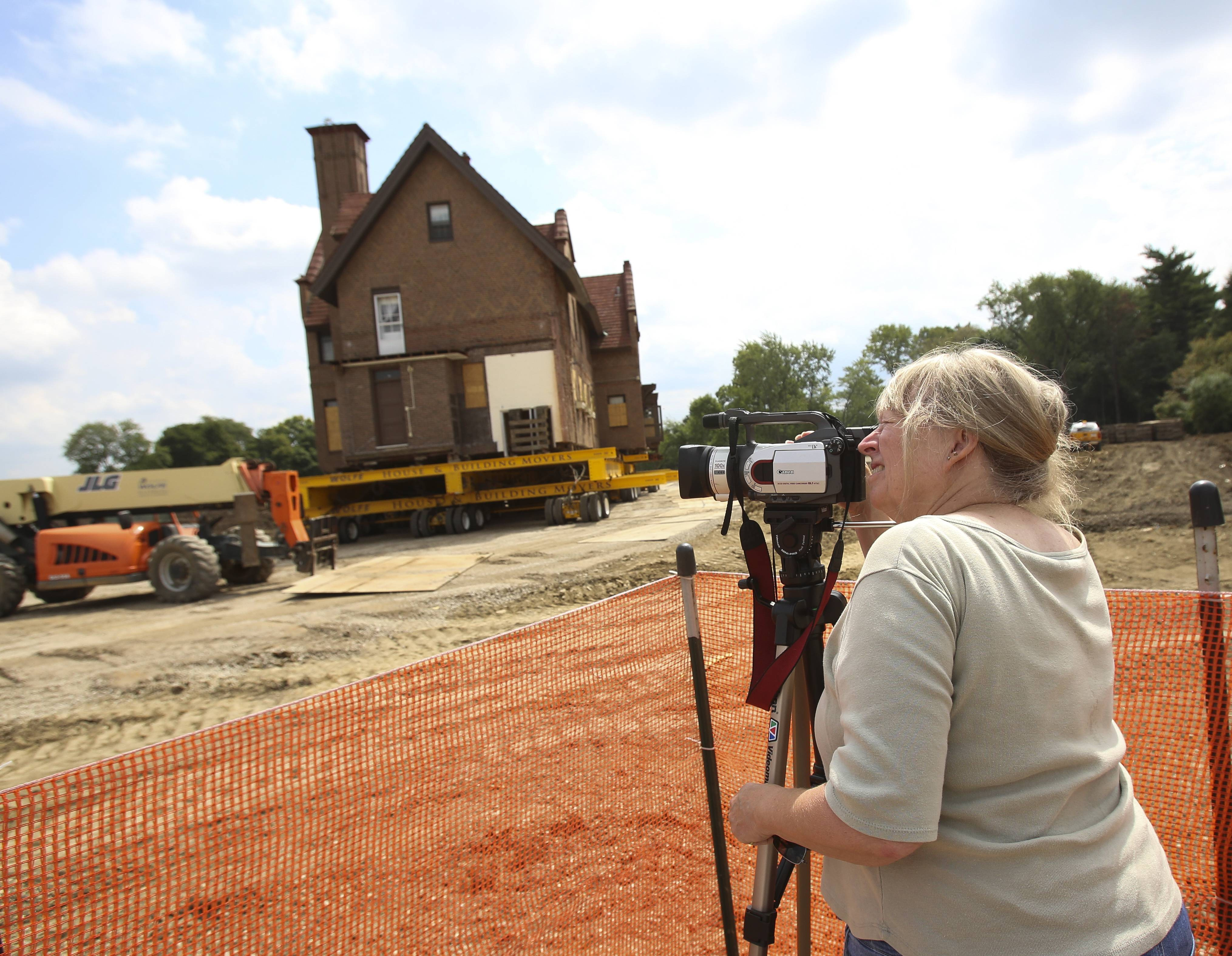 Nancy Flannery, chairwoman of Wheaton's Historic Commission, documented the move of the House of Seven Gables.