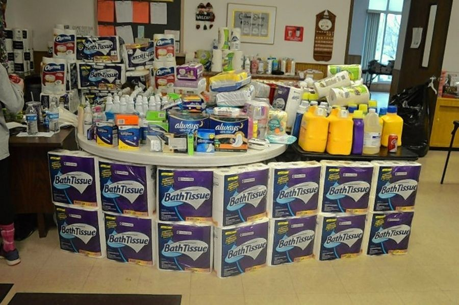 In addition to clothing, the Antioch Traveling Closet offers toiletries, cleaning supplies, school supplies and more.
