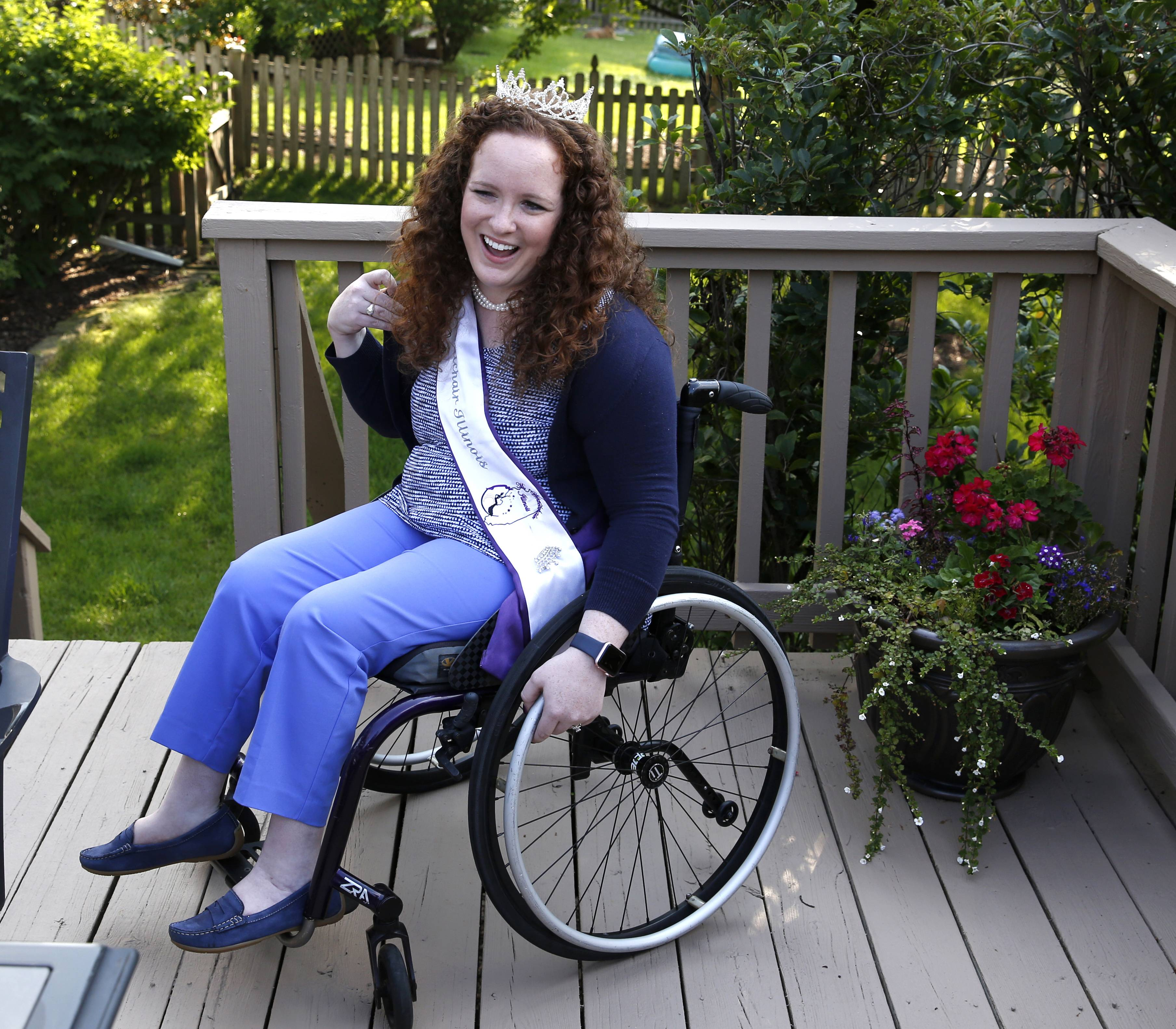 Shannon Webster of Naperville was not named Ms. Wheelchair America, but as the holder of the Illinois crown for 2017, she won an award for giving the best speech about her platform of employment for people with disabilities.