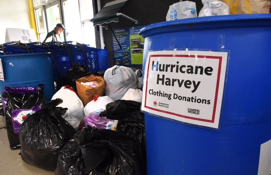 Two Suburban Companies Collect Supplies For Hurricane Victims