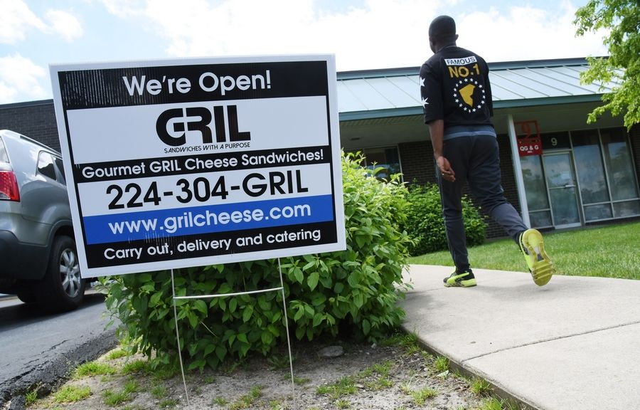 Although it opened in May as a carryout and catering restaurant, GRIL is now seeking village approval for customers to dine in the eatery.