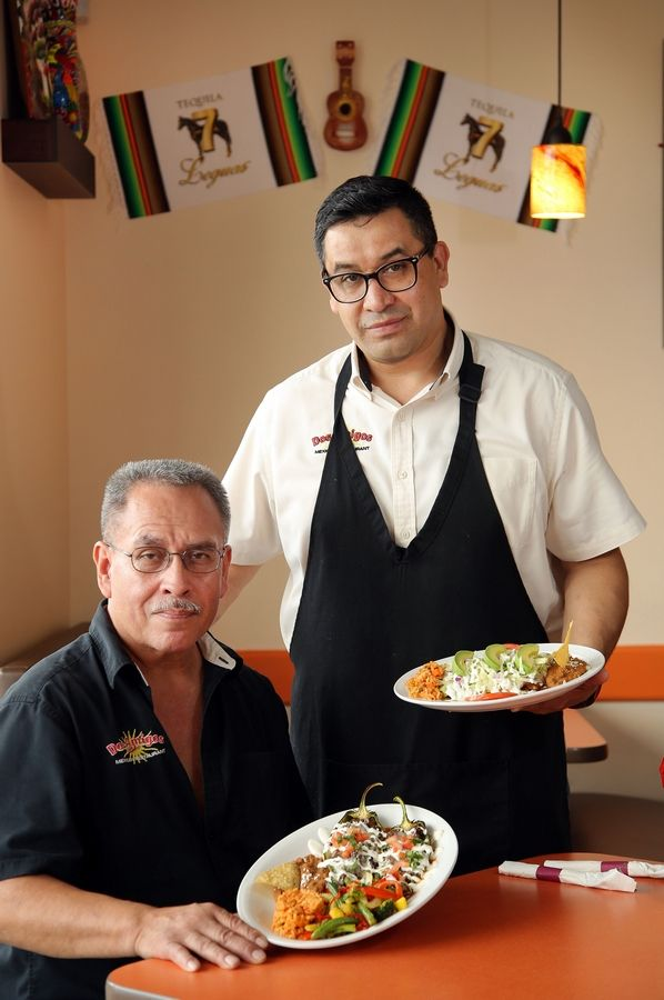 Co-owners Sergio Casillas, left, and Oscar Garcia opened Dos Amigos Mexican Restaurant in Libertyville about six months ago.