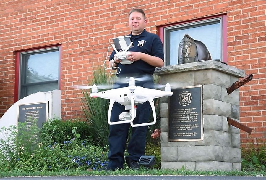 The Carpentersville Fire Department purchased the village's first drone earlier this summer after Firefighter Matt Tracy introduced the concept to the village.