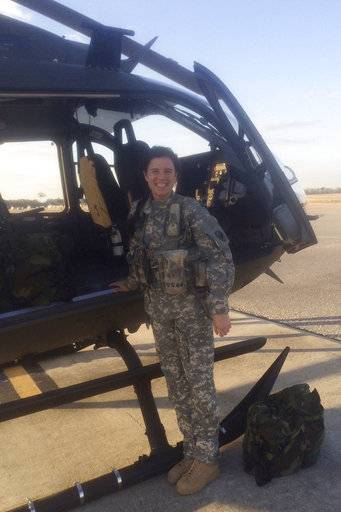This undated photo provided by the U.S. Army shows 1st Lt. Kathryn M. Bailey, of Hope Mills, N.C. Bailey, 26, was among five soldiers aboard an Army Black Hawk helicopter when it crashed off the coast of Hawaii during a nighttime training exercise on Aug. 15, 2017. Bailey was an aviation officer. She received the National Defense Service Medal and other rewards. Bailey was declared dead after DNA analysis confirmed some of her remains were found among the crash wreckage. (U.S. Army via AP)