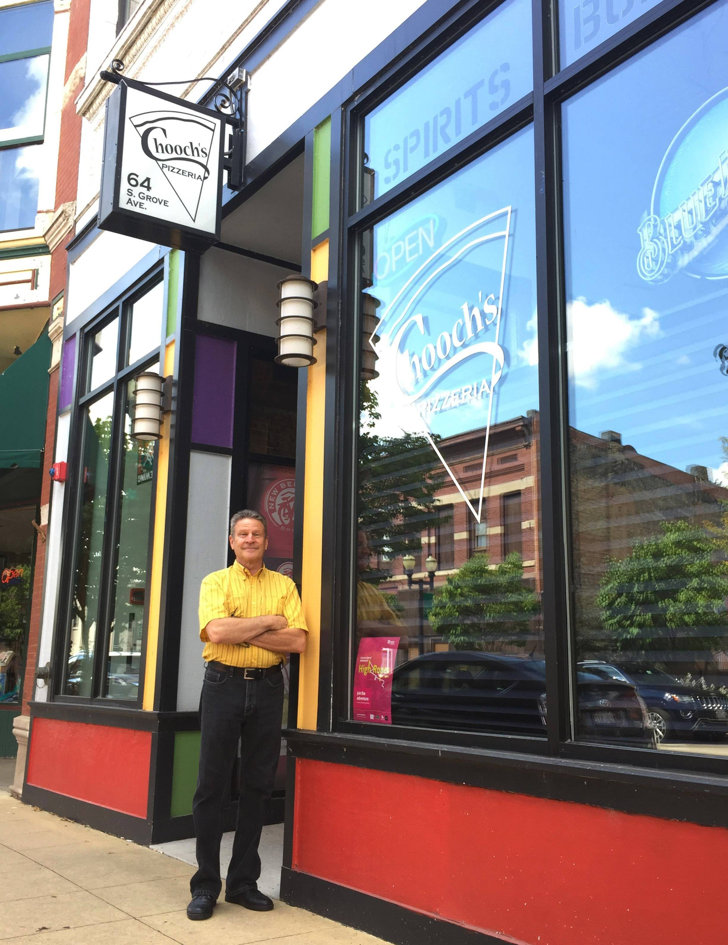 Mike Butirro, co-owner of Chooch's Pizzeria in downtown Elgin, decided to close but waited until all his employees found a new job.