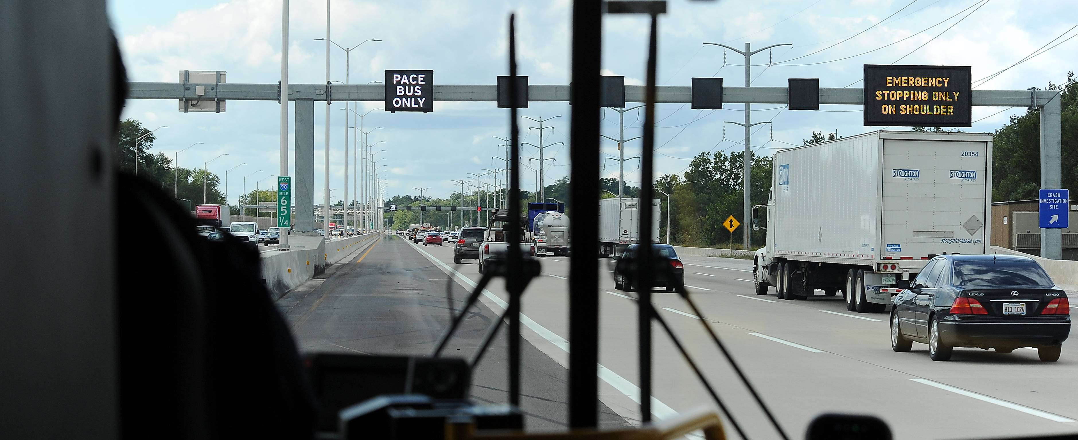 'SmartRoad' technology on Jane Addams Tollway