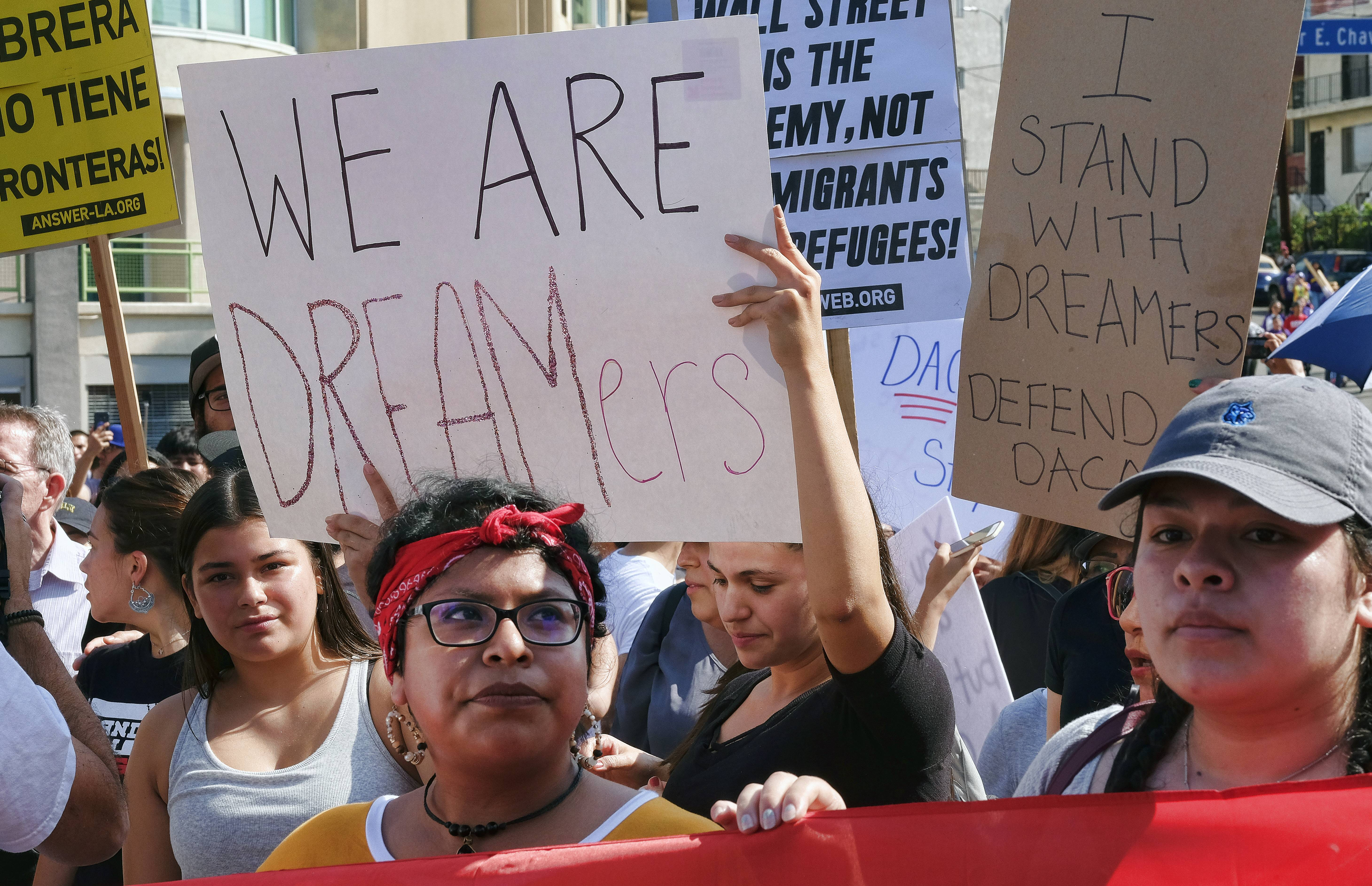 'Dreamers' losing protection as Trump announces end of DACA