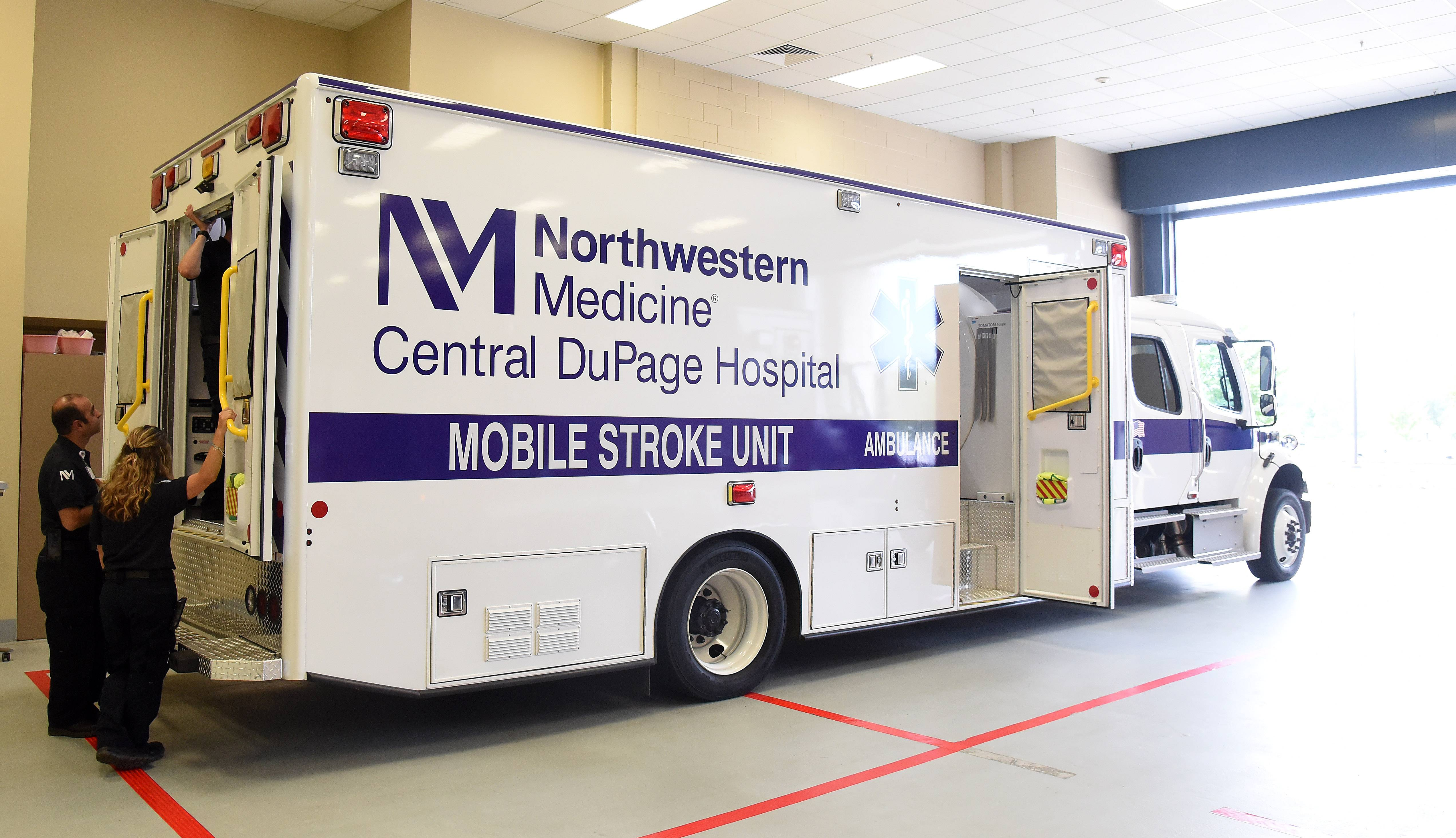 The Northwestern Medicine Central DuPage Hospital mobile stroke unit has been in action since January.