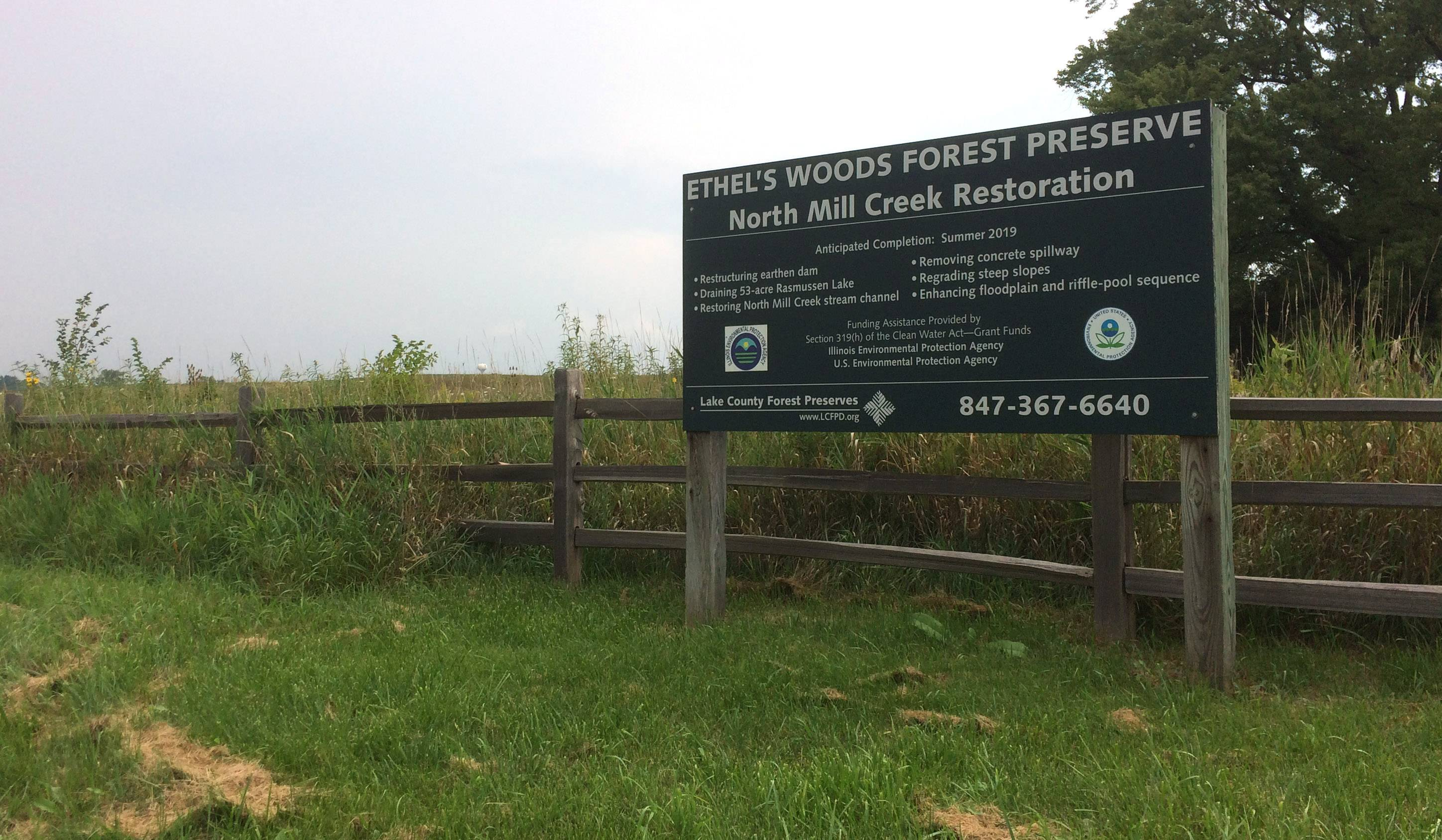 The property that became Ethel's Woods was purchased by the Lake County Forest Preserve District in 2001 but has not been opened for public access. Officials hope that will change by 2019.