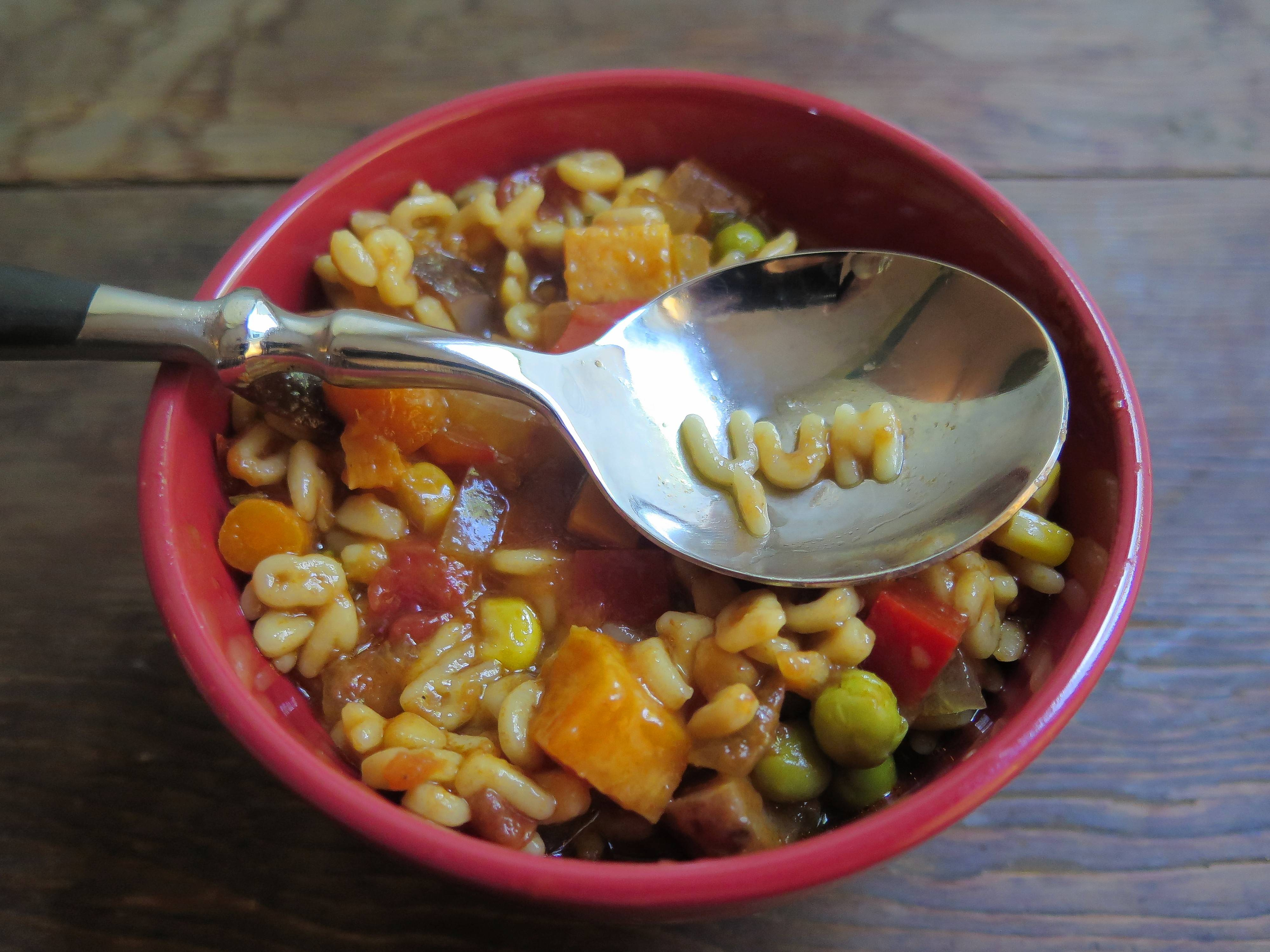 Homemade Alphabet Soup is an excellent way to get kids and grownups, too, to eat their vegetables.