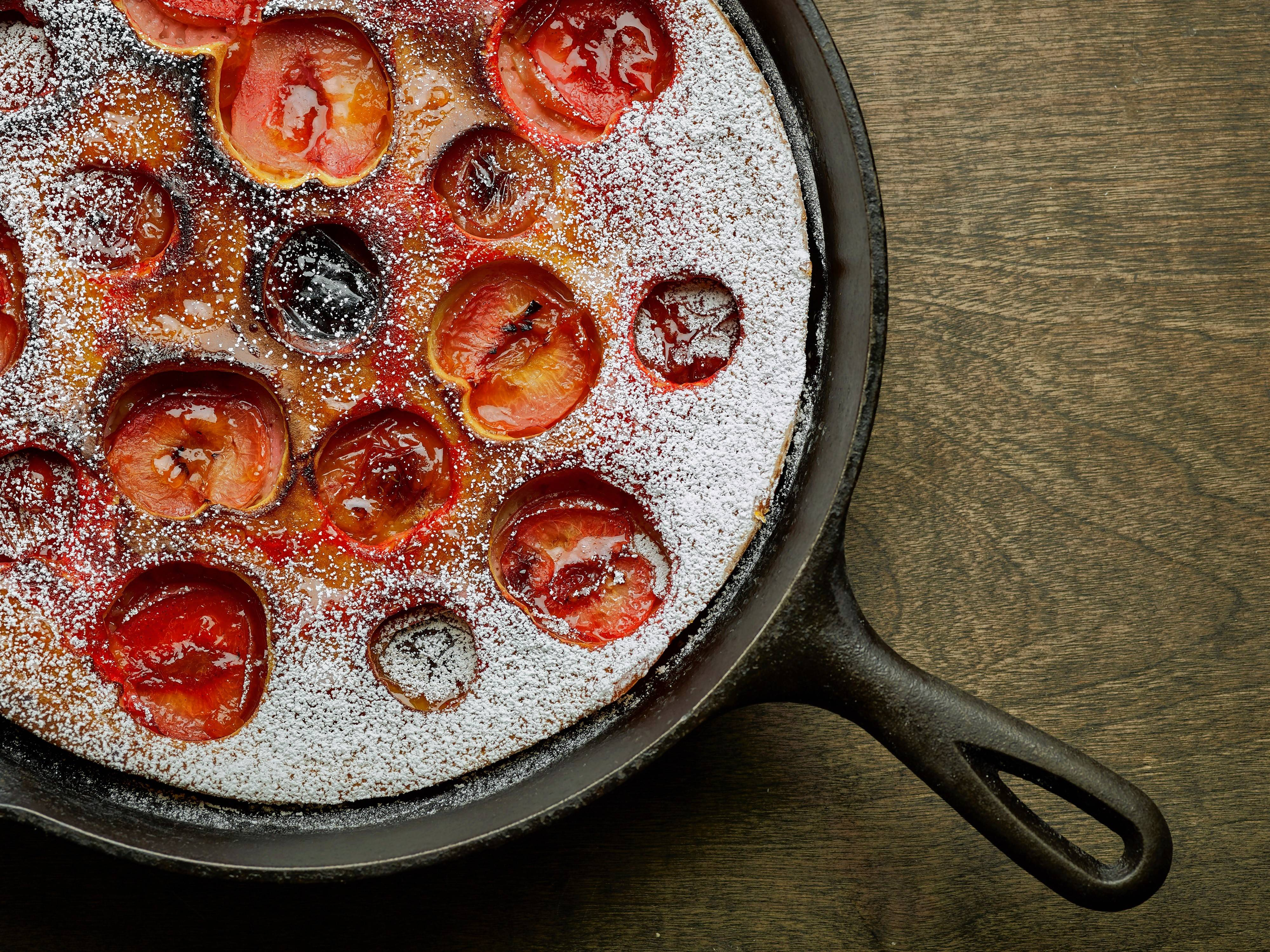 Phil Mansfield for The Culinary Institute of America, Associated Press Stone fruits, like peaches, apricots, and plums, are classic clafoutis ingredients as in the plum clafoutis made at the Culinary Institute of Arts in Hyde Park, New York.