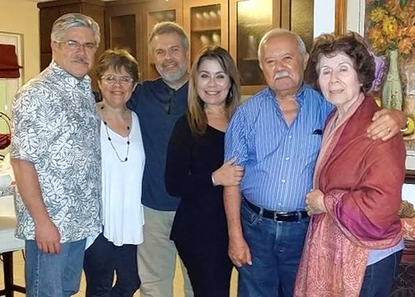 Democratic state Rep. Fred Crespo of Hoffman Estates, left, with his sister Martha, her twin brother Mark, sister Dynia, father Tony and mother Lydia in Bayamón, Puerto Rico.