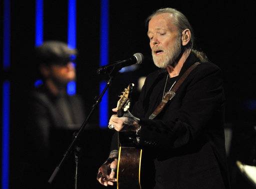 FILE - This Oct. 13, 2011 file photo shows Gregg Allman performs at the Americana Music Association awards show in Nashville, Tenn. Allman's farewell album veers deeply into parting sentiment, but it also reminds us of what a singular talent we just lost when he died in May 2017. (AP Photo/Joe Howell, File)