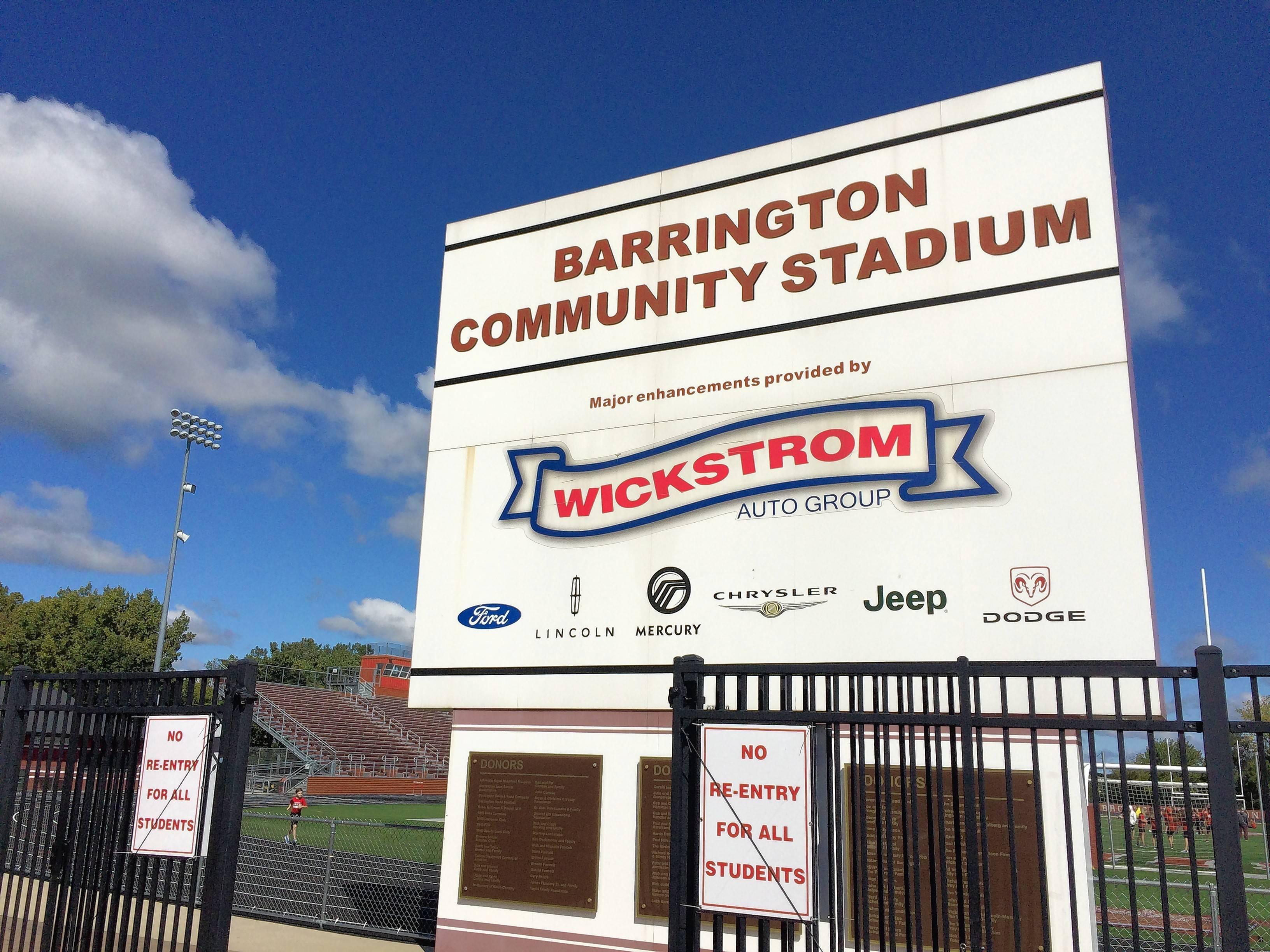 Wickstrom Auto Group >> Time for new Barrington High School football stadium sponsors
