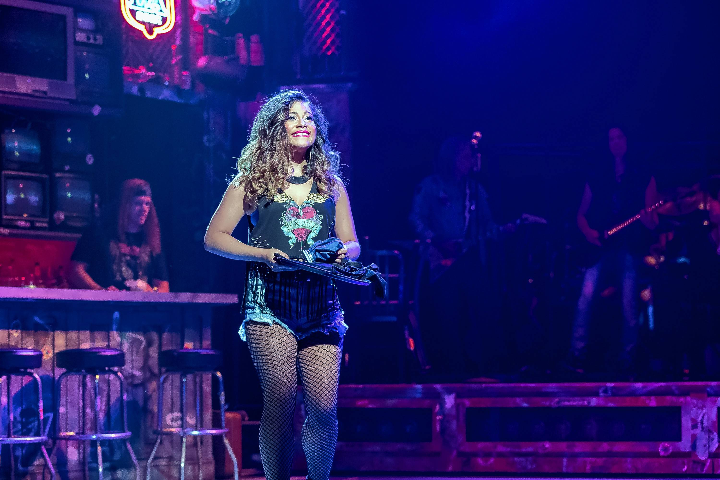 "Sherrie (Cherry Torres) gets a job working at The Bourbon Room in ""Rock of Ages"" at Drury Lane Theatre in Oakbrook Terrace."