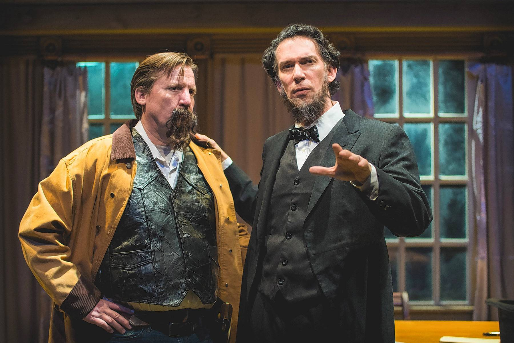 "Libertyville native Tim Kough, left, stars with Lawrence Grimm in Shattered Globe Theatre's Chicago premiere of ""The Heavens are Hung in Black."""