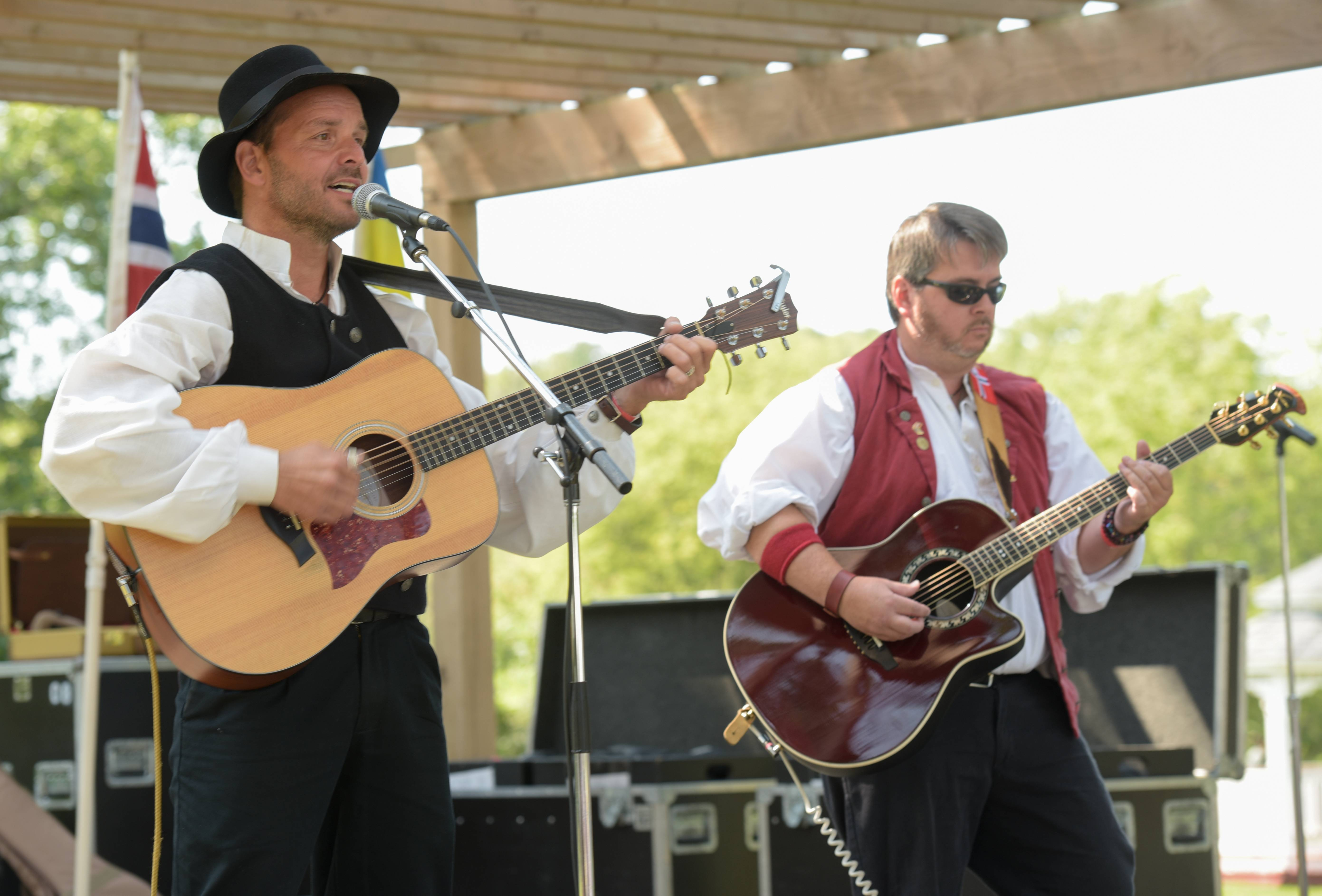 The group Kyle and Dave performs at the 38th Annual Scandinavian Day Festival Sunday in South Elgin.