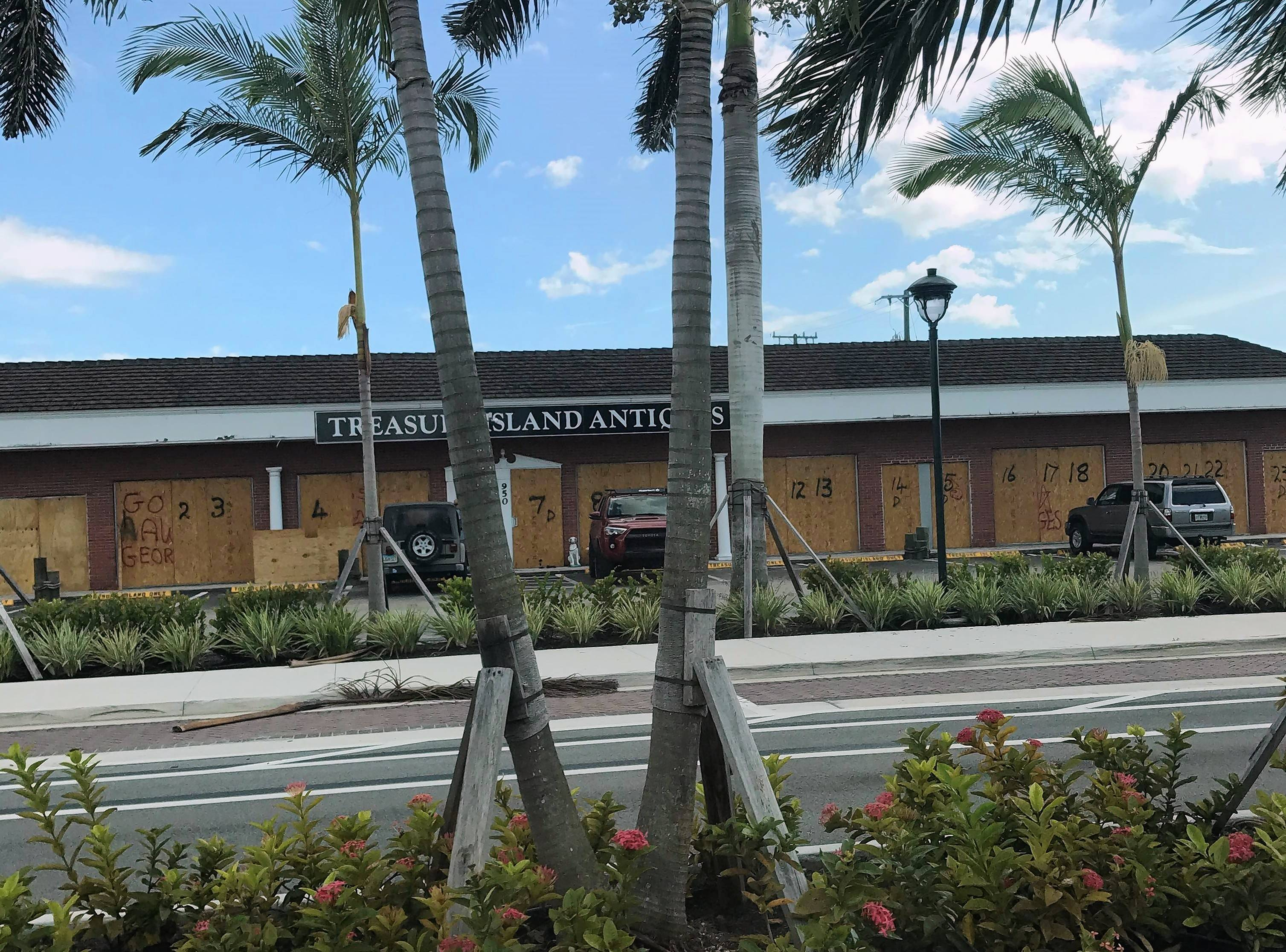 Many businesses in Naples, Florida, have been boarded up in preparation for Hurricane Irma's arrival.