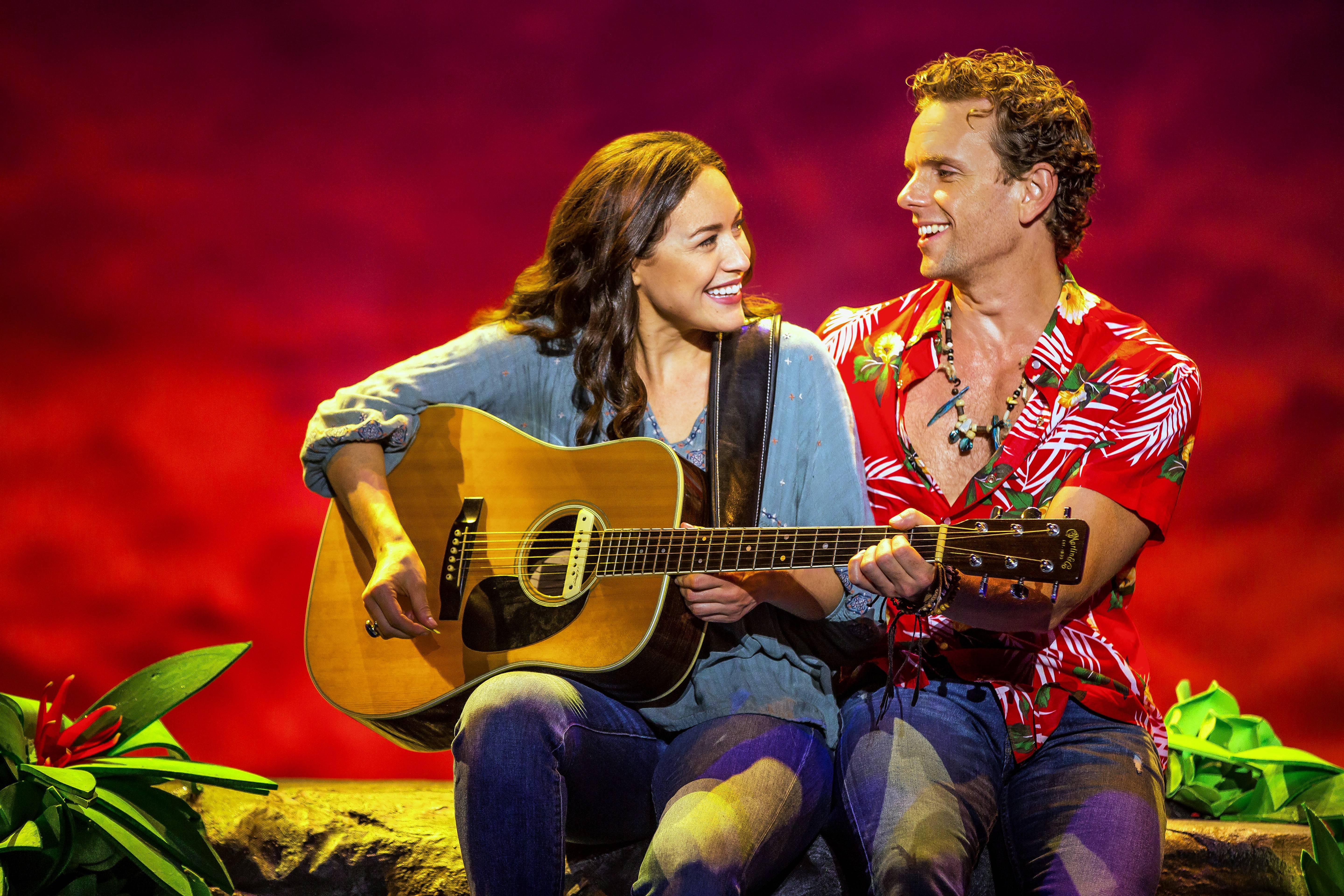 "Alison Luff and Paul Alexander Nolan star in ""Escape to Margaritaville,"" the new Broadway-bound musical by singer/songwriter Jimmy Buffett."