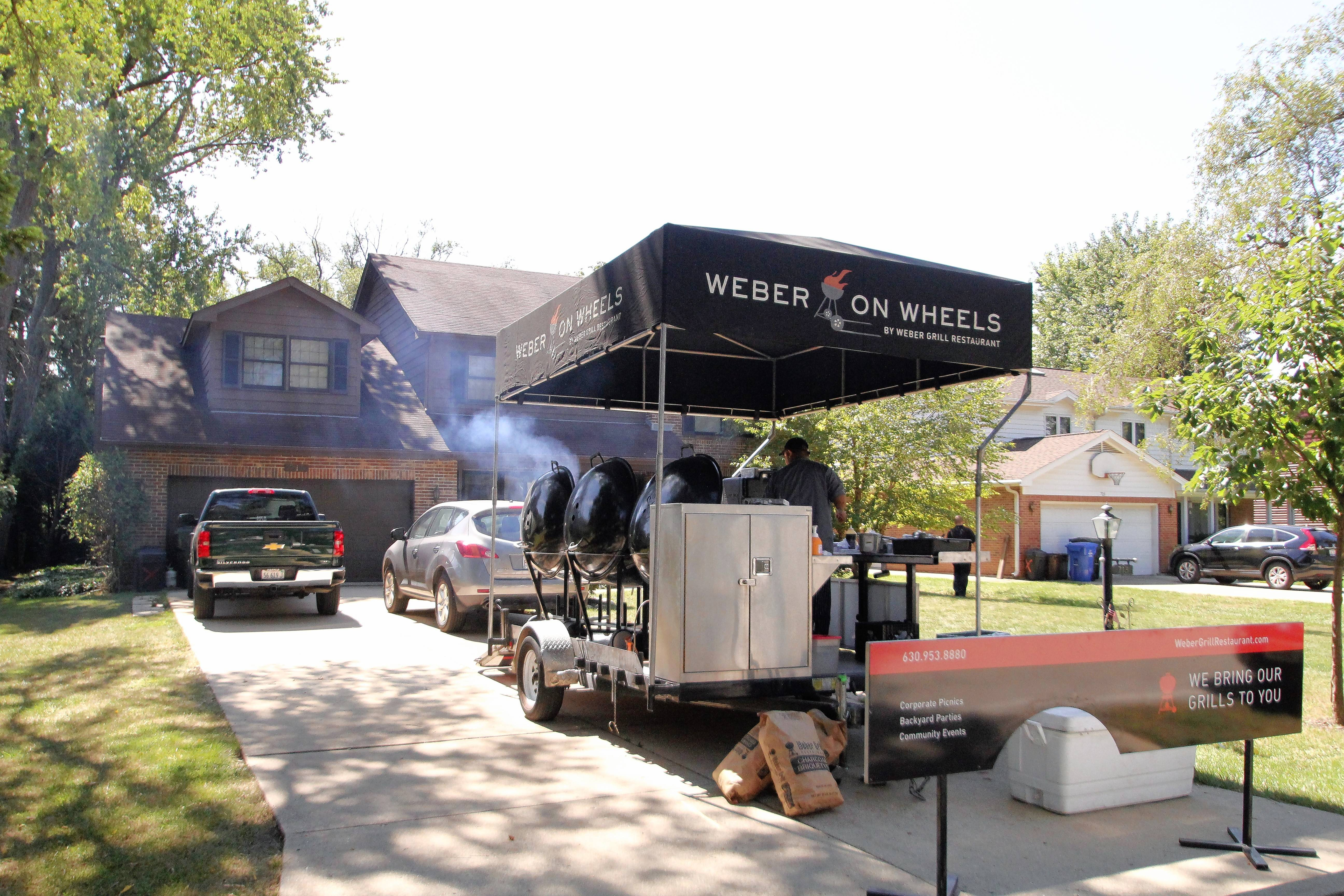 A Des Plaines couple, Shirley and Larry Allison, recently won a Weber on Wheels catered party valued at $2,500.