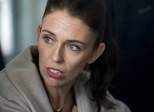 FILE - In this Aug. 16, 2017 file photo New Zealand Labour Party leader Jacinda Ardern speaks during a visit to Addington School in Christchurch, New Zealand. Advance voting began Monday, Sept. 11, 2017 for New Zealand's general election, which could see a change of government in the South Pacific nation for the first time in nine years. (AP Photo/Mark Baker,File)
