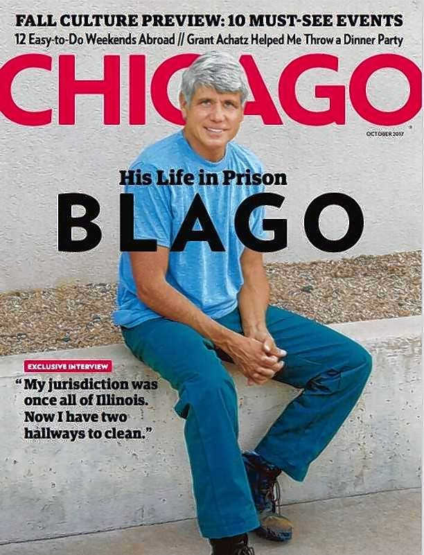 Chicago magazine gets the first photo of former Gov. Rod Blagojevich in a federal prison.