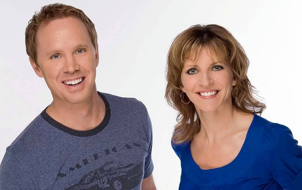 Eric Ferguson and Kathy Hart -- before their breakup on WTMX 101.9 FM.