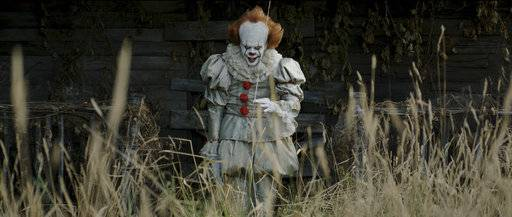 "Bill Skarsgard scares in ""It."""