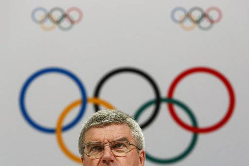 FILE - In this Aug. 3, 2015 file photo, International Olympic Committee President Thomas Bach speaks at a press conference after the 128th IOC session in Kuala Lumpur, Malaysia. After a debacle in Boston, the U.S. Olympic Committee turned to Los Angeles to host the Olympics. That city commissioned a poll showing 88 percent of its residents supported bringing the Olympics back to Southern California. That overarching public support has been a cornerstone of the city's bid, even though there are questions about whether anyone in Los Angeles is all that excited about an event that is still 11 years away. (AP Photo/Joshua Paul, File)