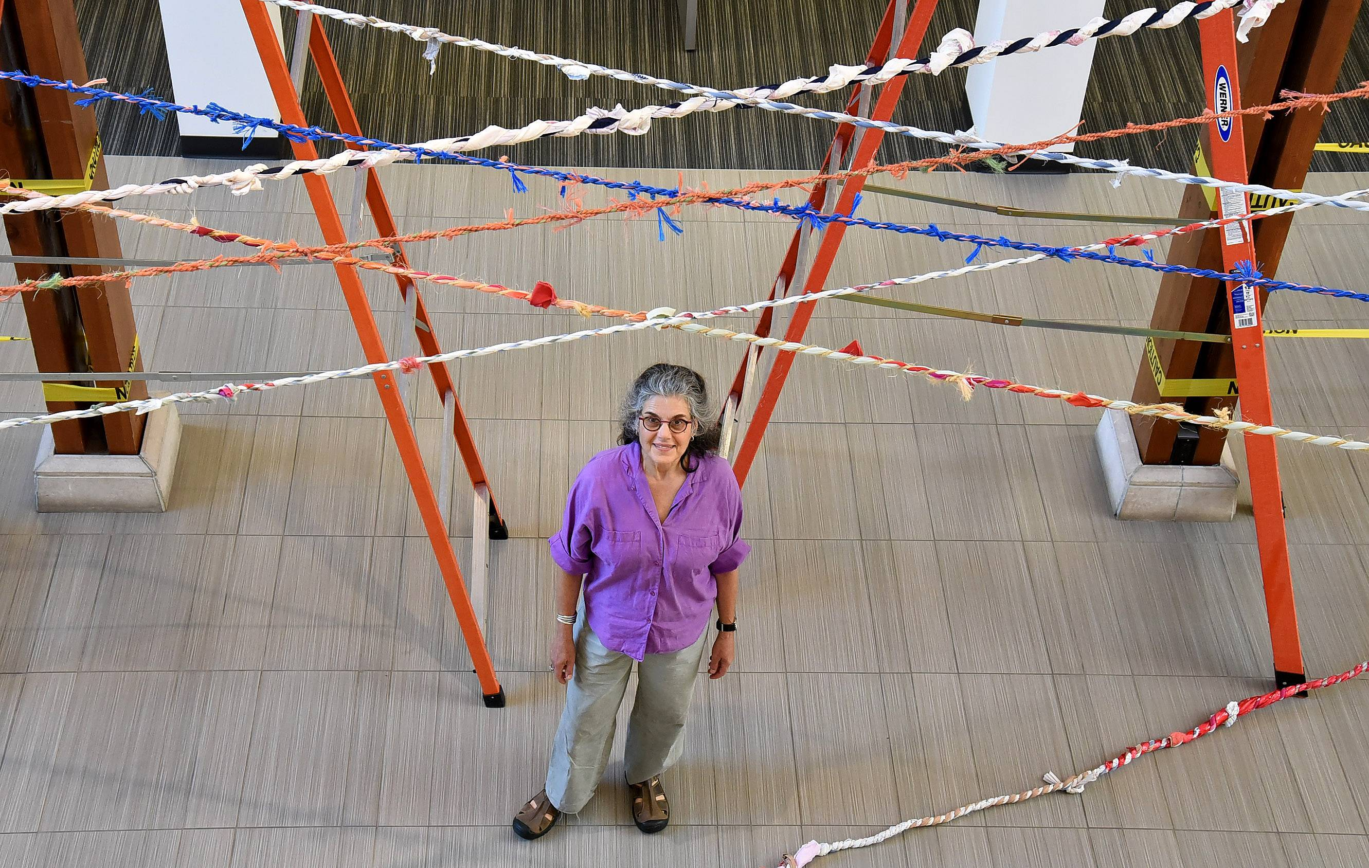 "Chicago artist Barbara Cooper is installing a community art project called ""Network"" at Barrington Area Library."